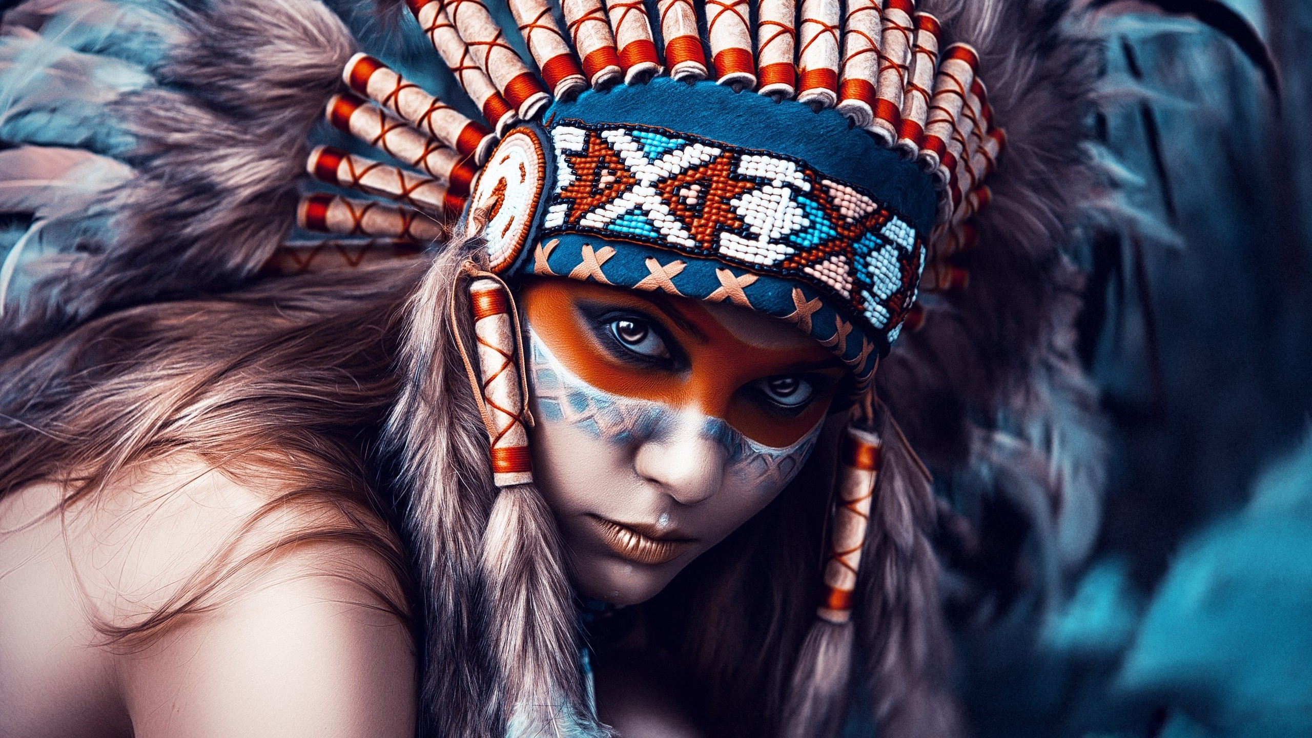 2560x1440 Photography / Native American Wallpaper