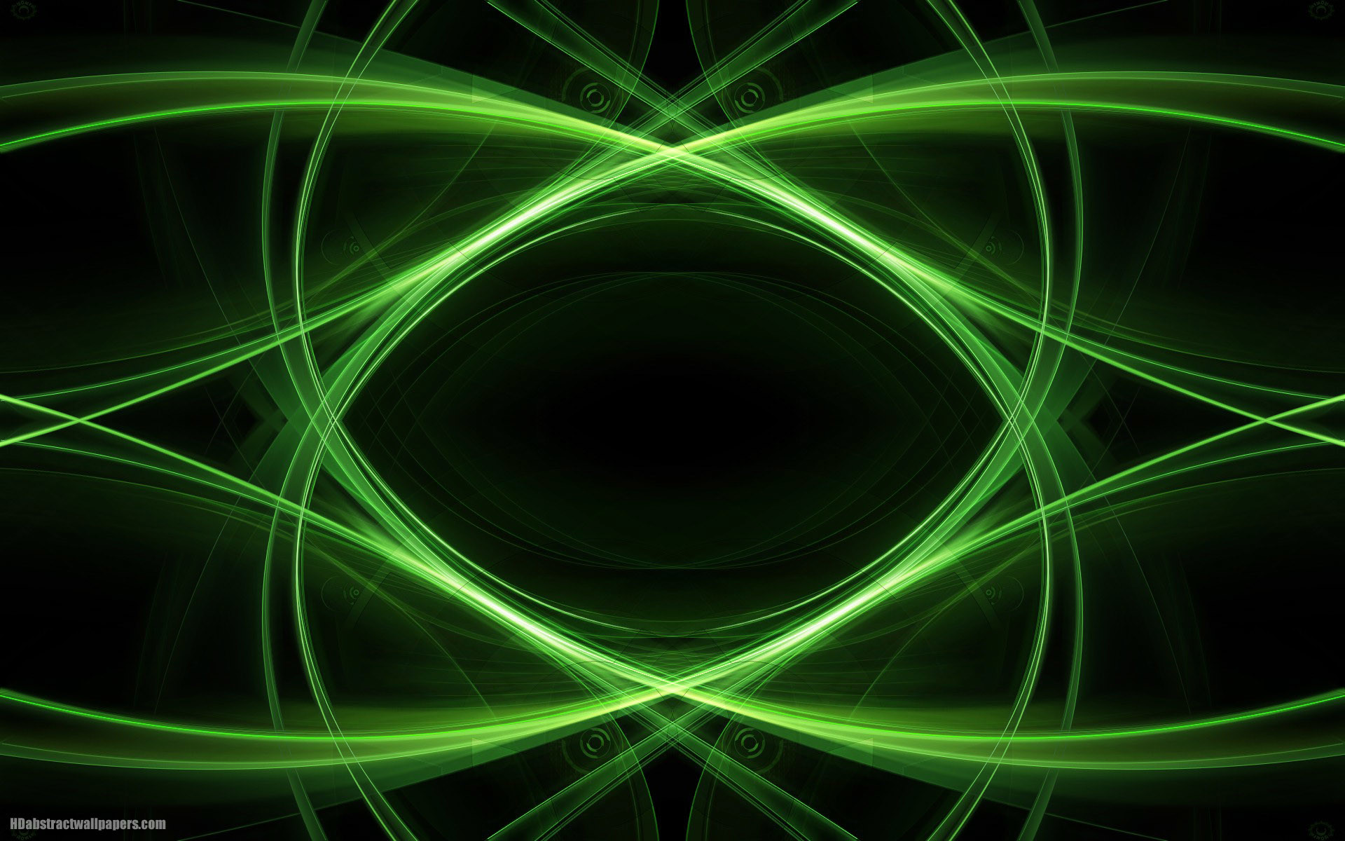 1920x1200 Black abstract wallpaper with green lines