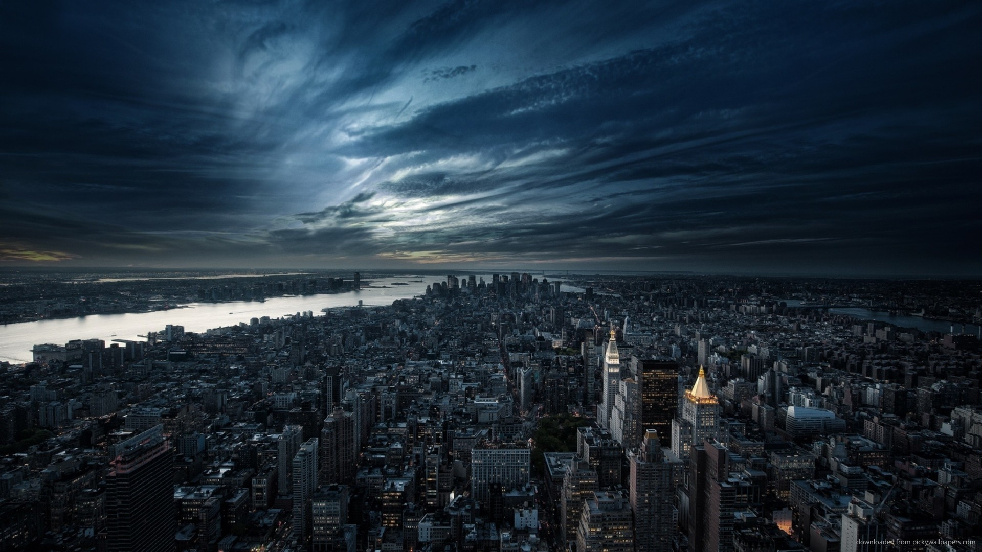 1920x1080 Dark Sky Over NYC picture