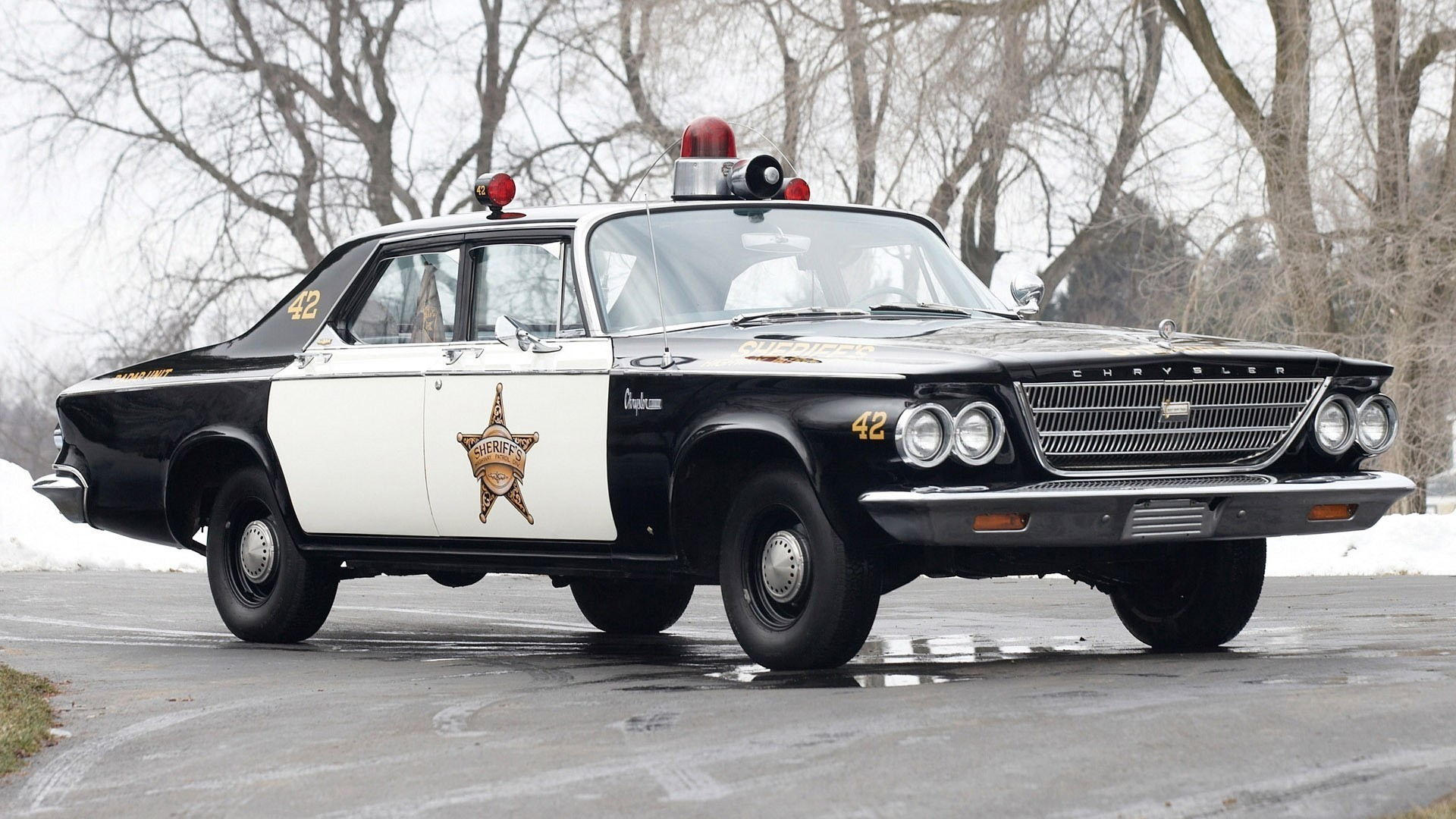 1920x1080 car, Police, Police Cars, Old Car, Chrysler, Sheriff, Road Wallpapers HD /  Desktop and Mobile Backgrounds