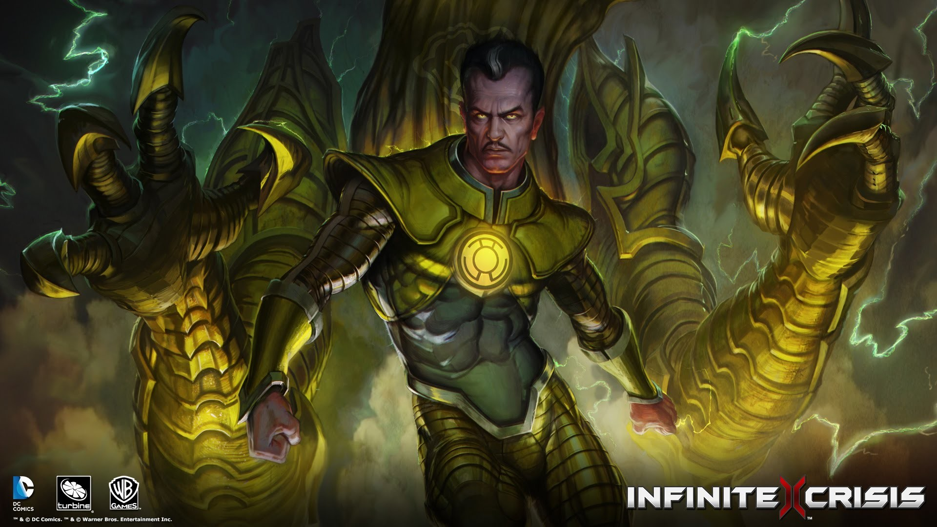 1920x1080 Infinite Crisis - Playing with Sinestro [Parallax Costume]