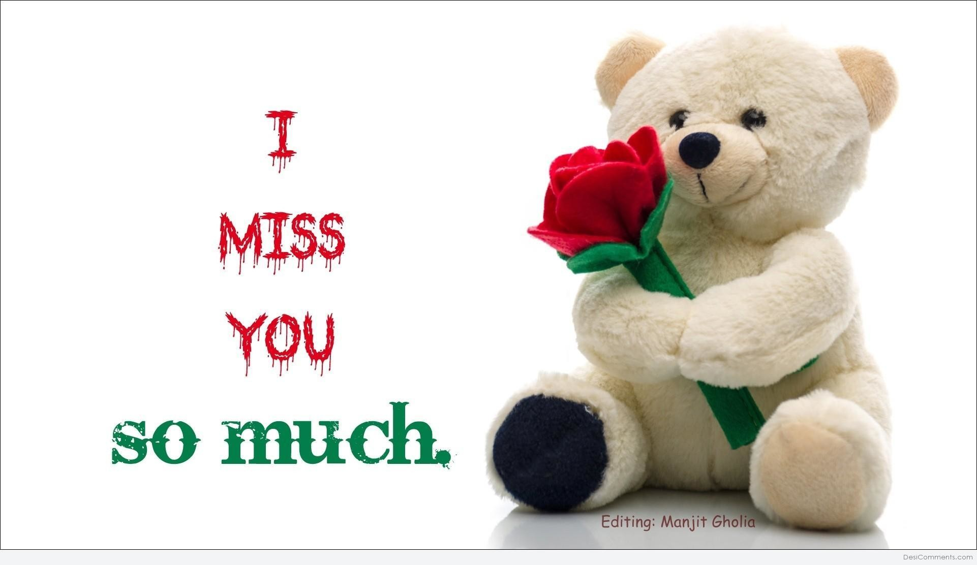 1922x1112 I Miss You So Much Teddy Wishes Greeting Image