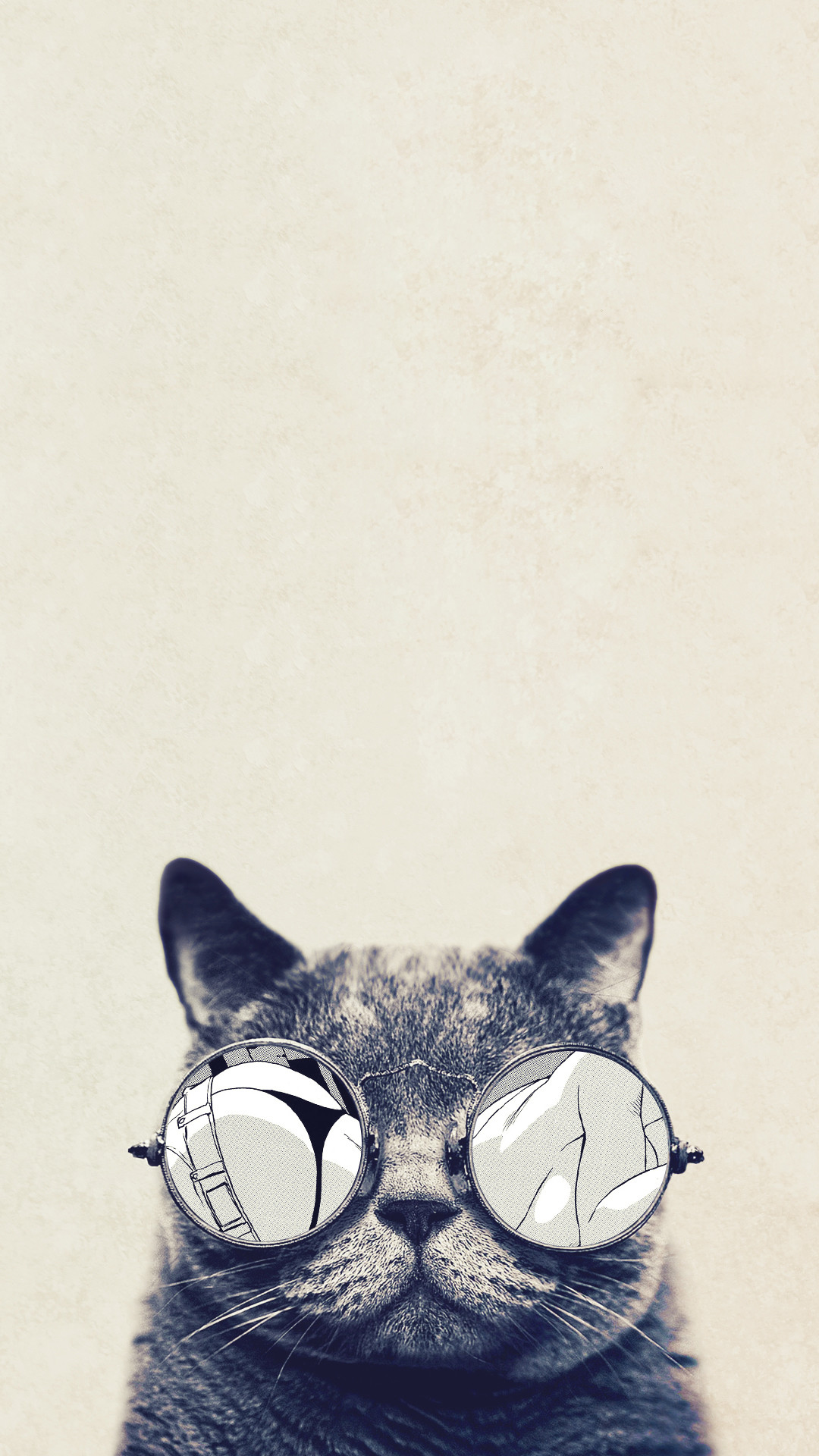 1080x1920 cool cat glasses android wallpaper