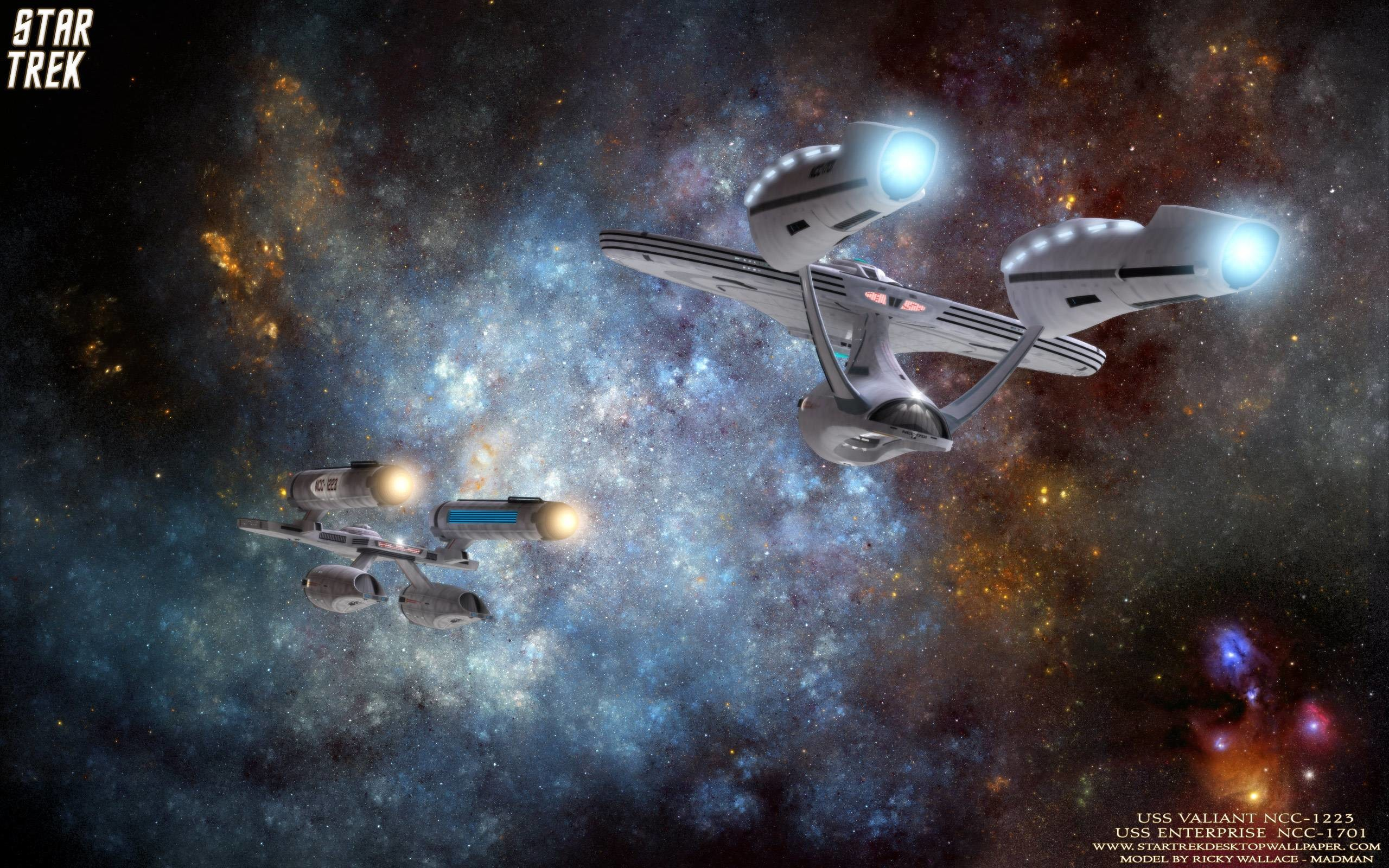 2560x1600 Star Trek USS Valiant NCC 1223 And USS Enterprise NCC 1701, free .