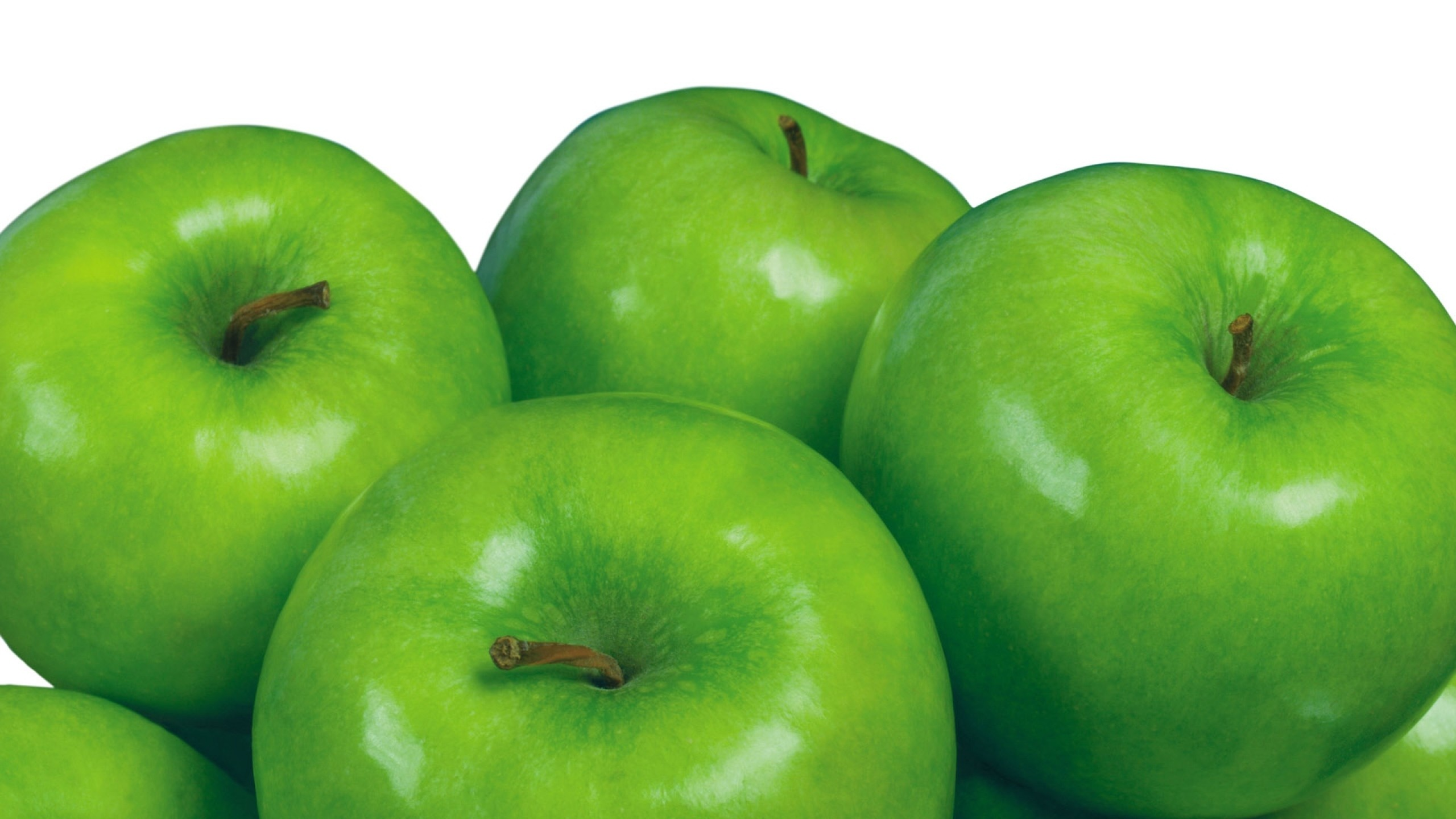 2560x1440  Wallpaper green apples, ripe, healthy, diet