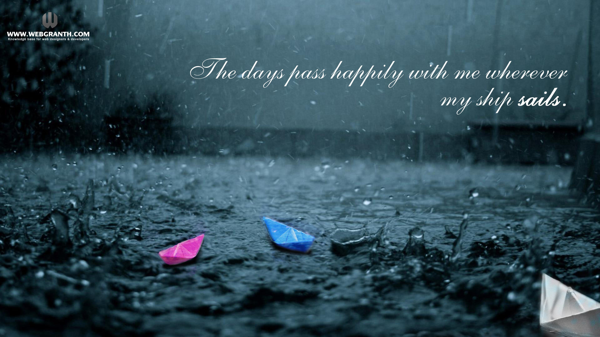 Beautiful Rain Drops Wallpapers with Quotes (52+ images)