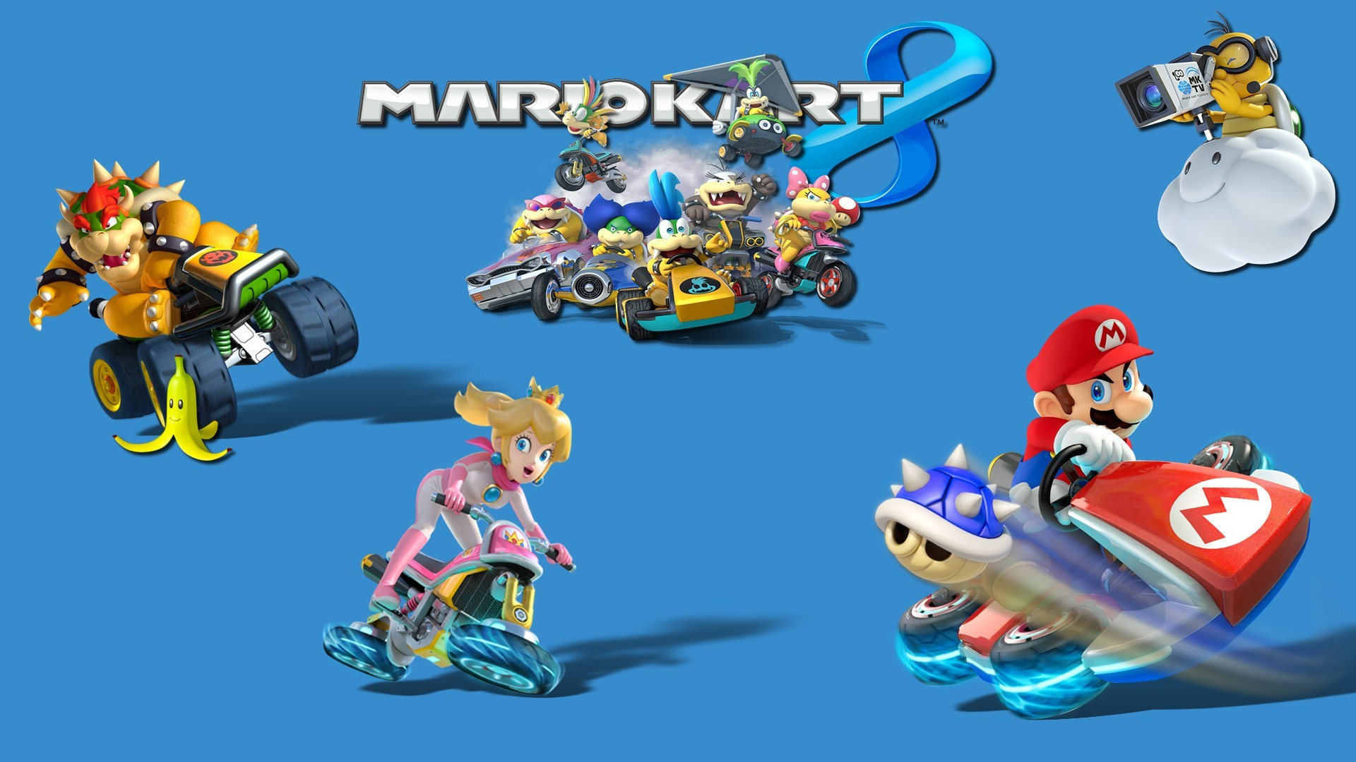 1920x1080 Mario Kart 8, Video Games, Toad (character), Mario Bros., Princess Peach, Nintendo  Wallpapers HD / Desktop and Mobile Backgrounds