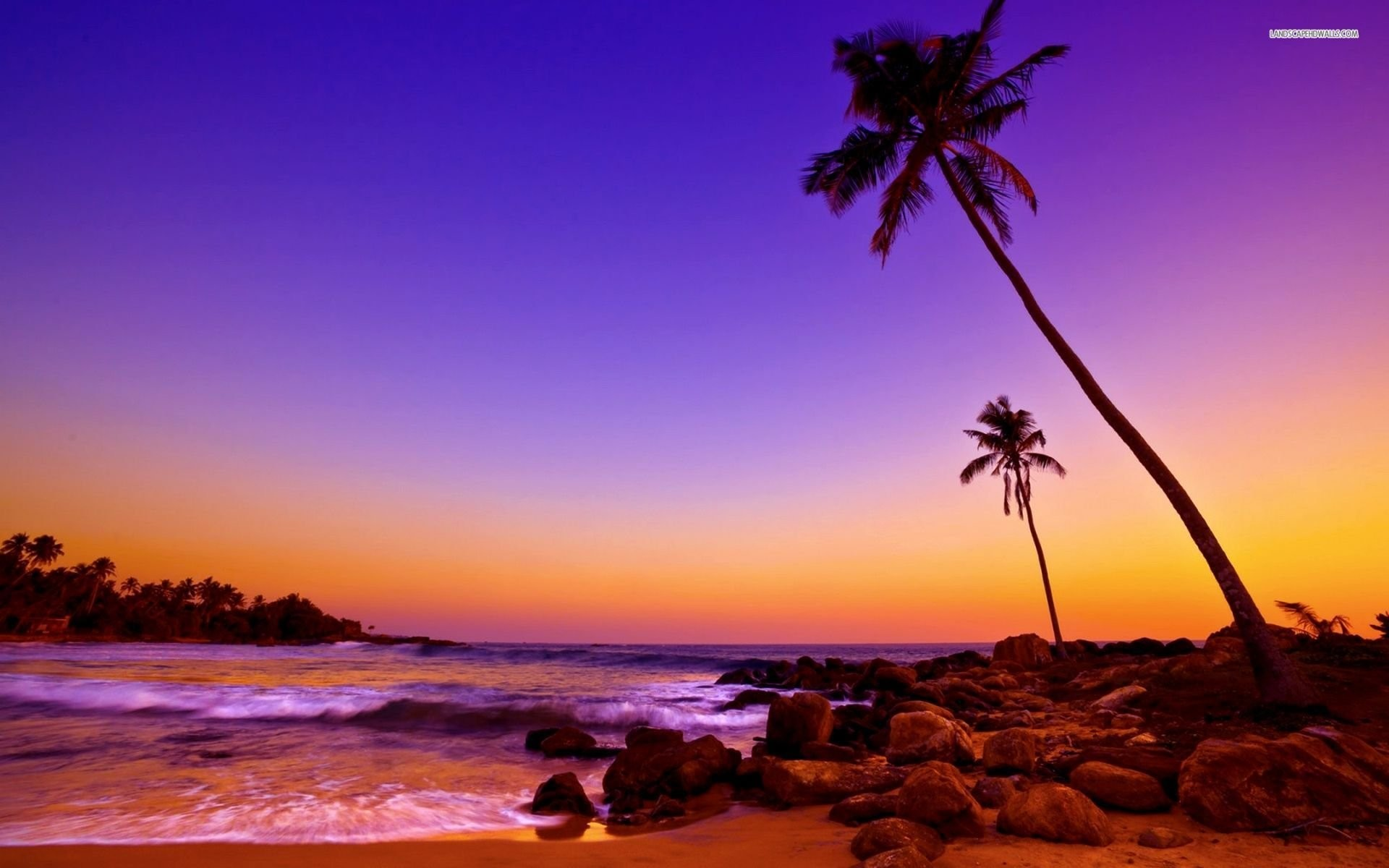 Hd Tropical Island Beach Paradise Wallpapers And Backgrounds: Tropical Island Sunset Wallpaper (58+ Images