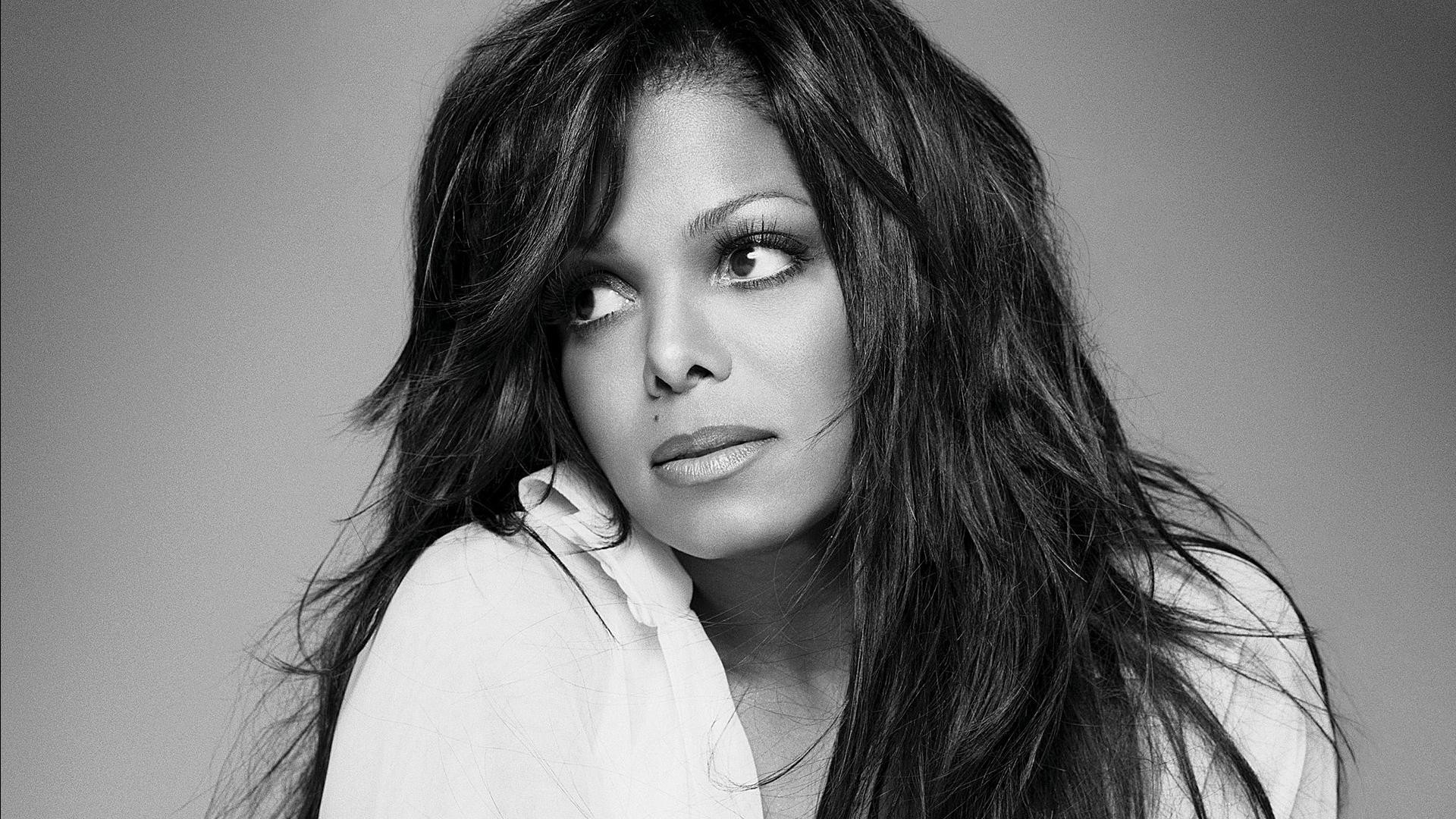 1920x1080 Monochrome Janet Jackson Wallpaper 60101