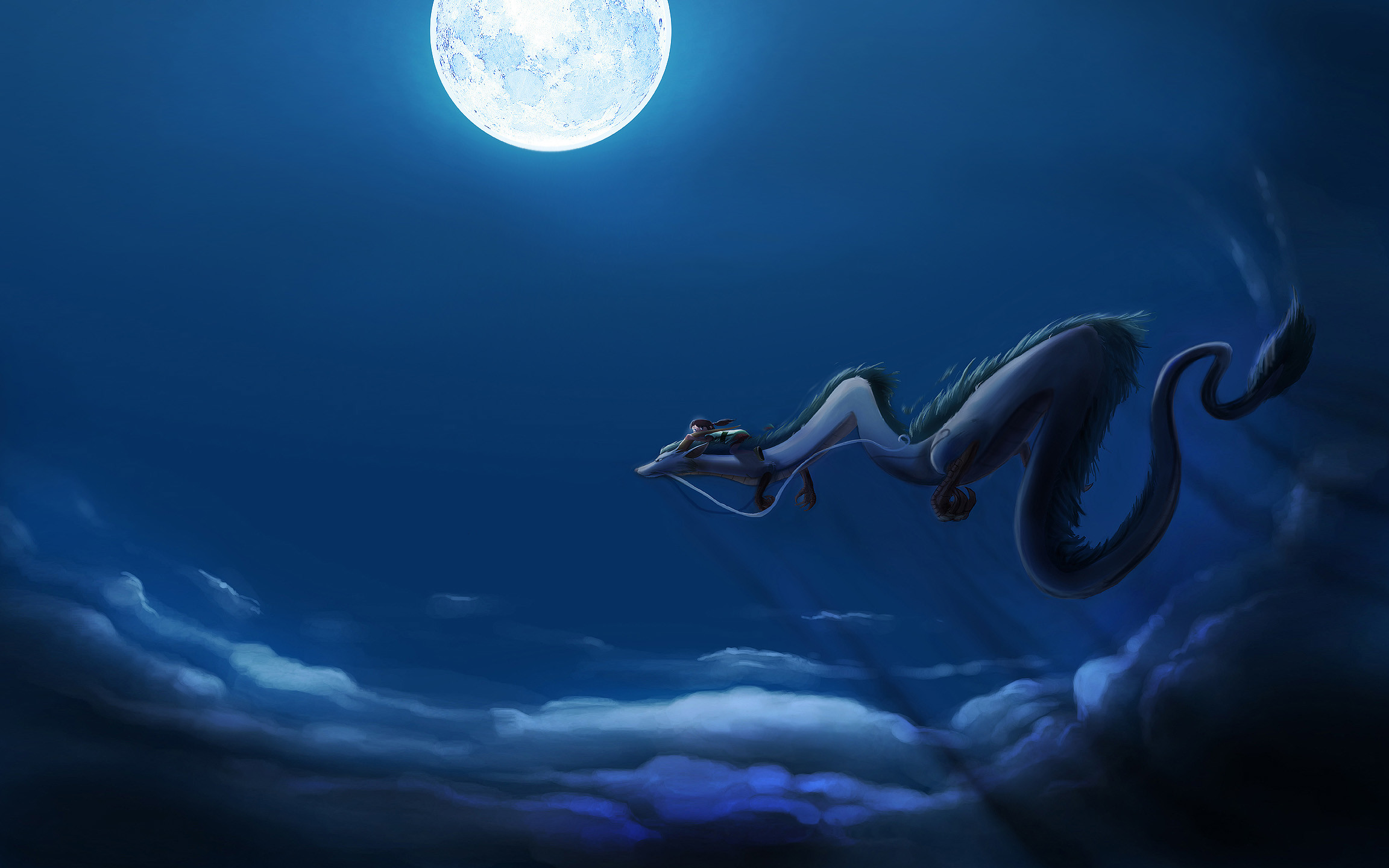 2304x1440 Spirited Away images Chihiro and Haku HD wallpaper and background photos