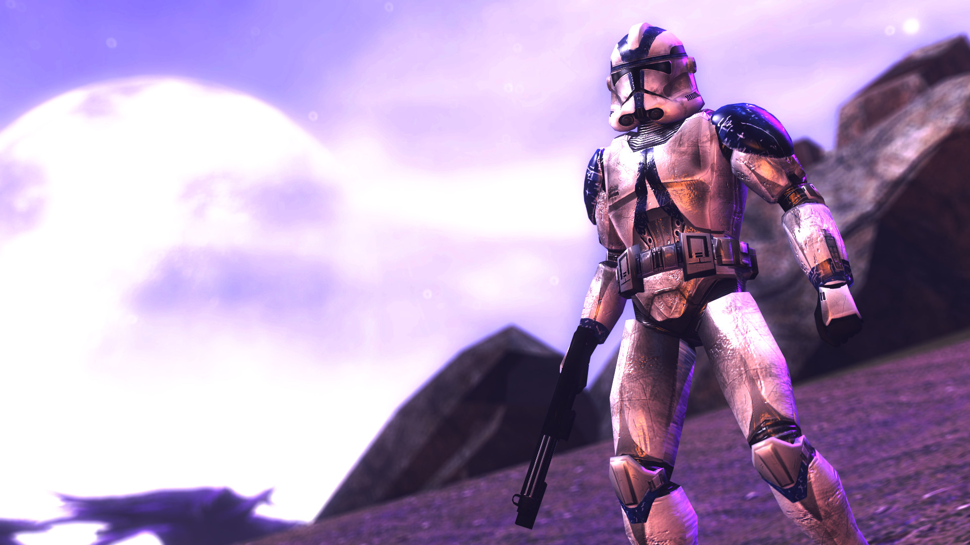 1920x1080 ... 501st Clone Trooper standing about by Shacobi