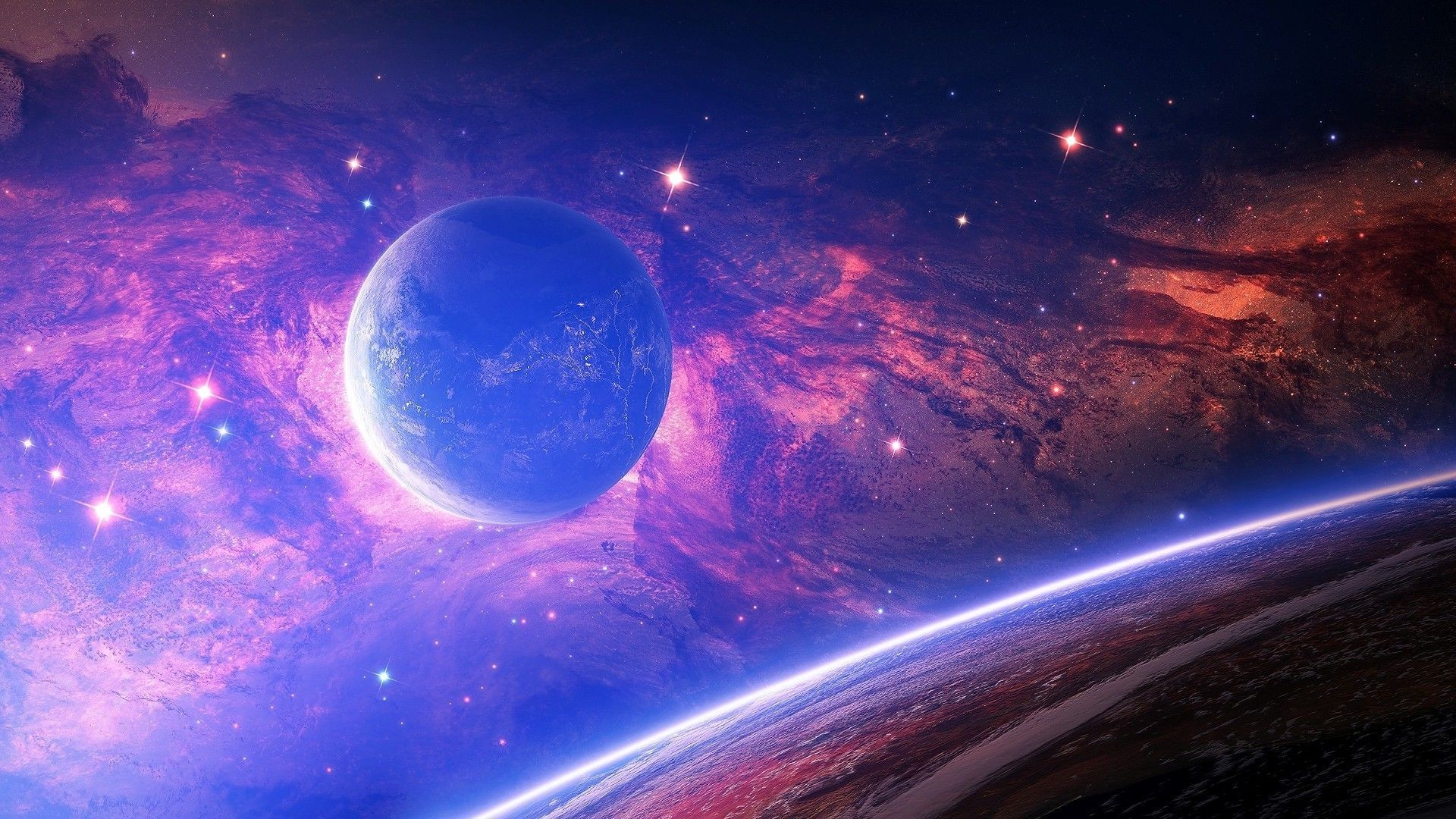 Hd purple space wallpaper 65 images - Space backgrounds 1920x1080 ...