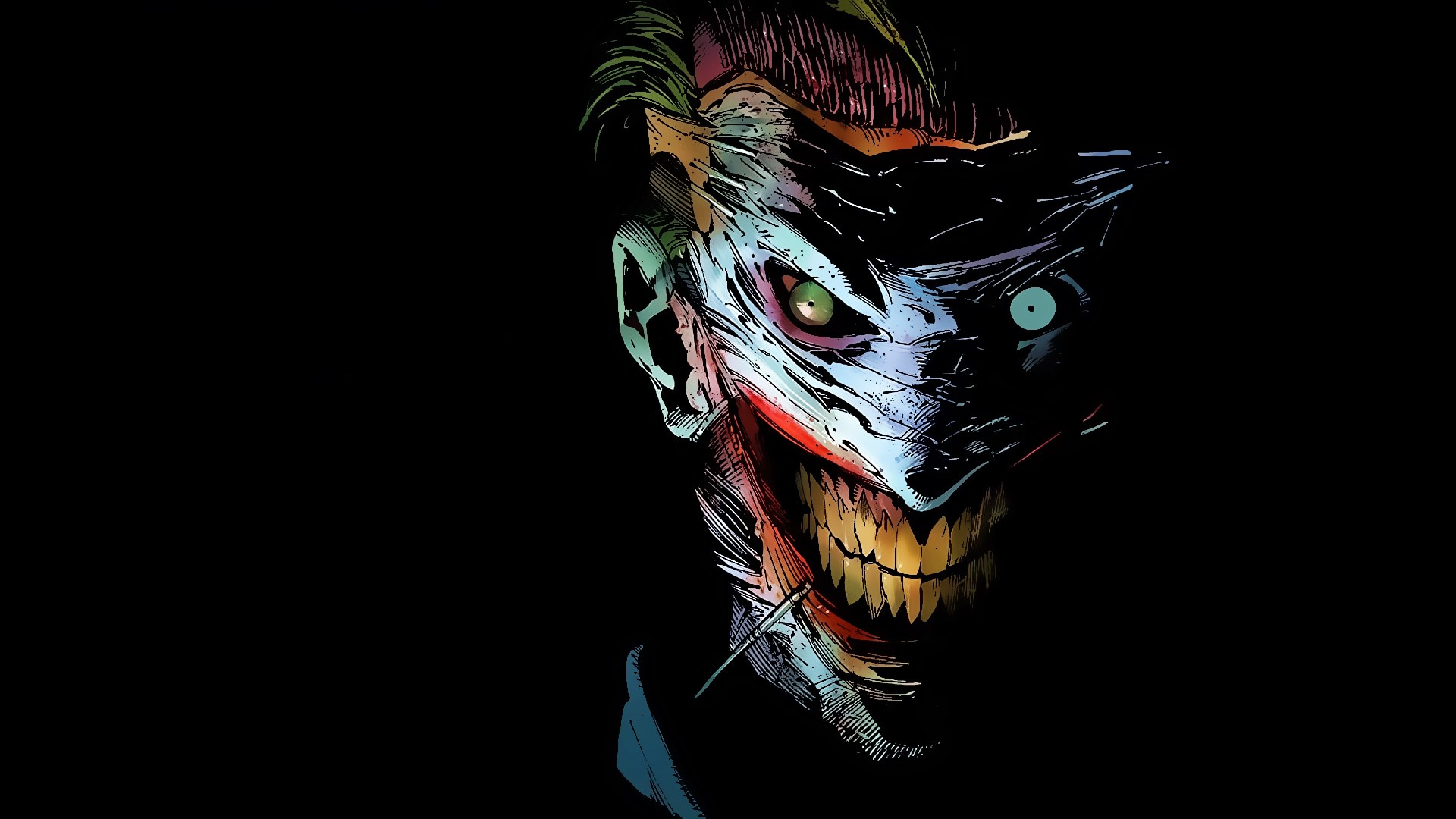 3840x2160 Preview wallpaper joker, dc comics, art