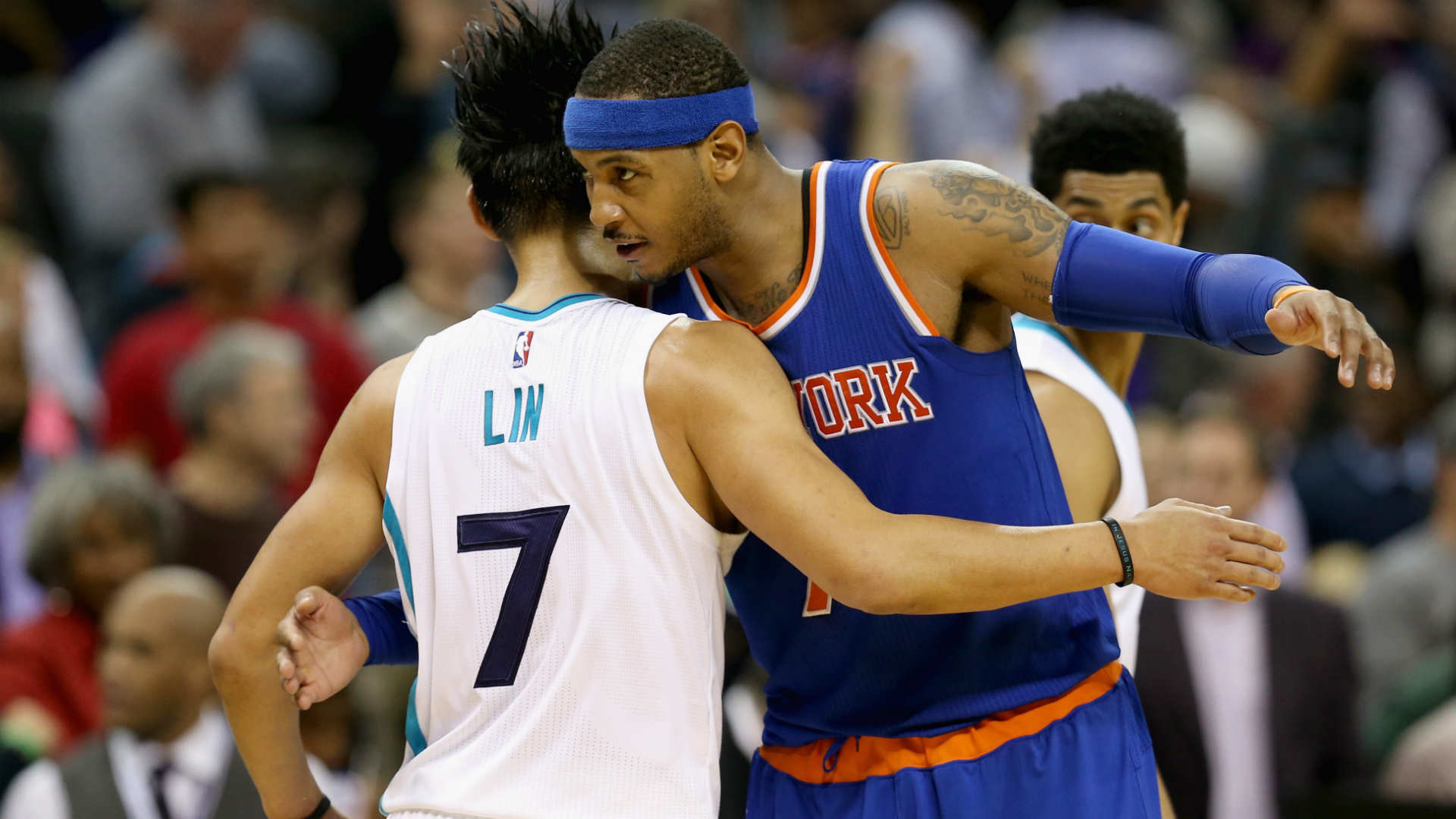 1920x1080 Carmelo Anthony wishes former teammate Jeremy Lin well with Nets | NBA |  Sporting News