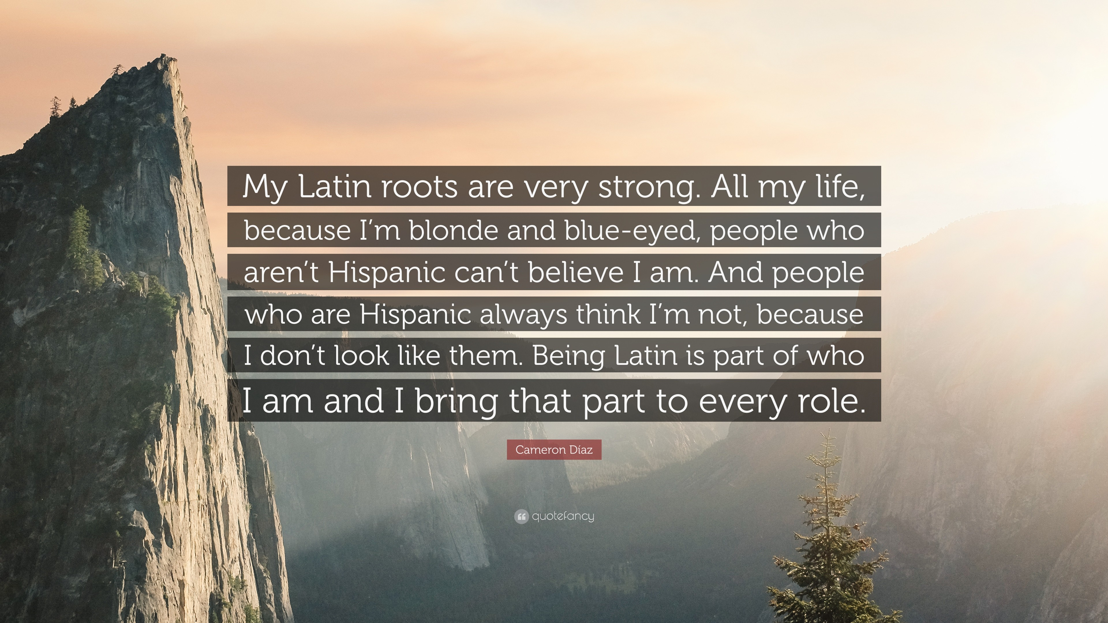 "3840x2160 Cameron Díaz Quote: ""My Latin roots are very strong. All my life,"