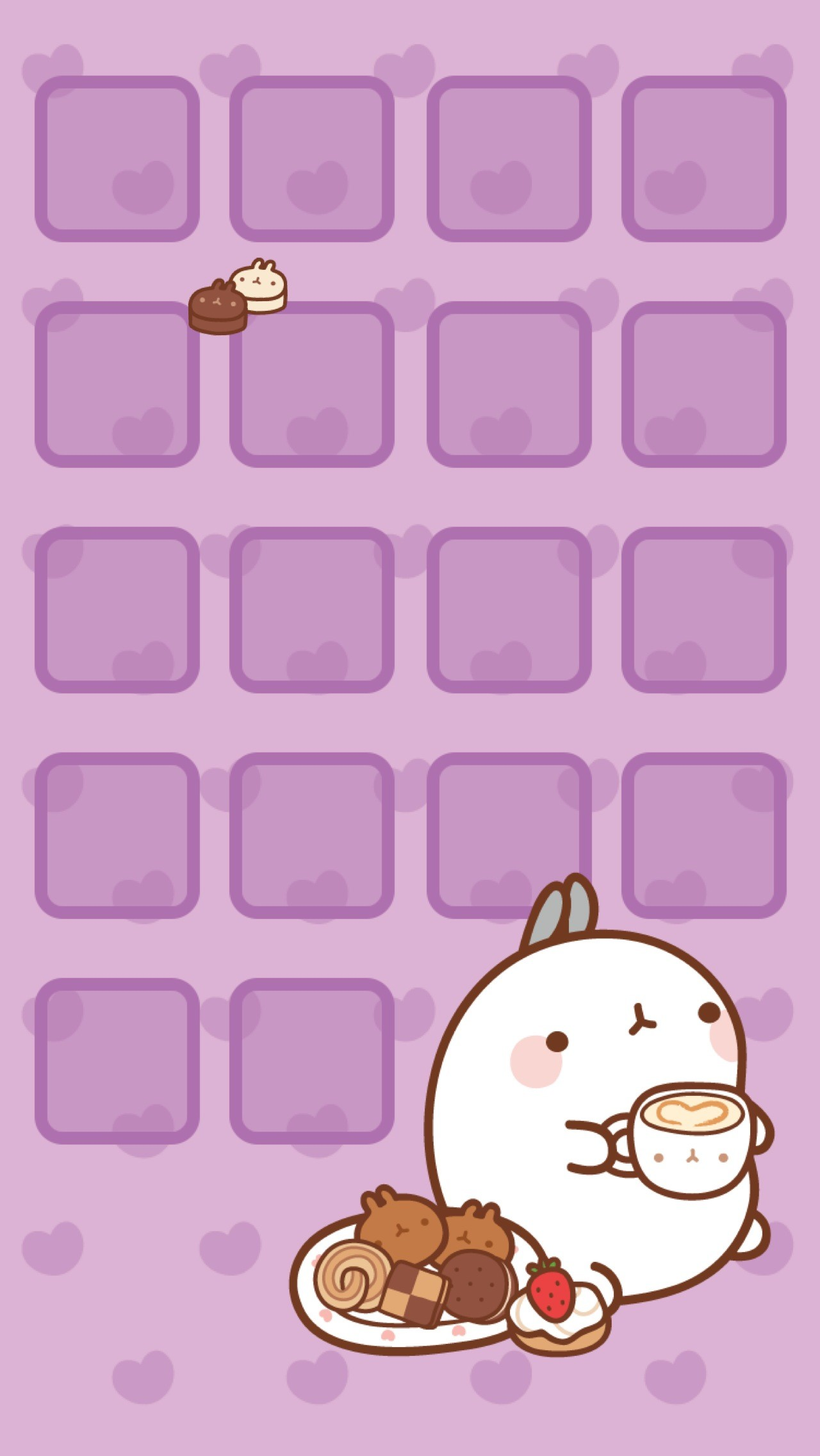 kawaii wallpapers iphone cute purple screen girly background cool wiki adorable backgrounds lock zone para halloween phone organizar 귀여운 getwallpapers