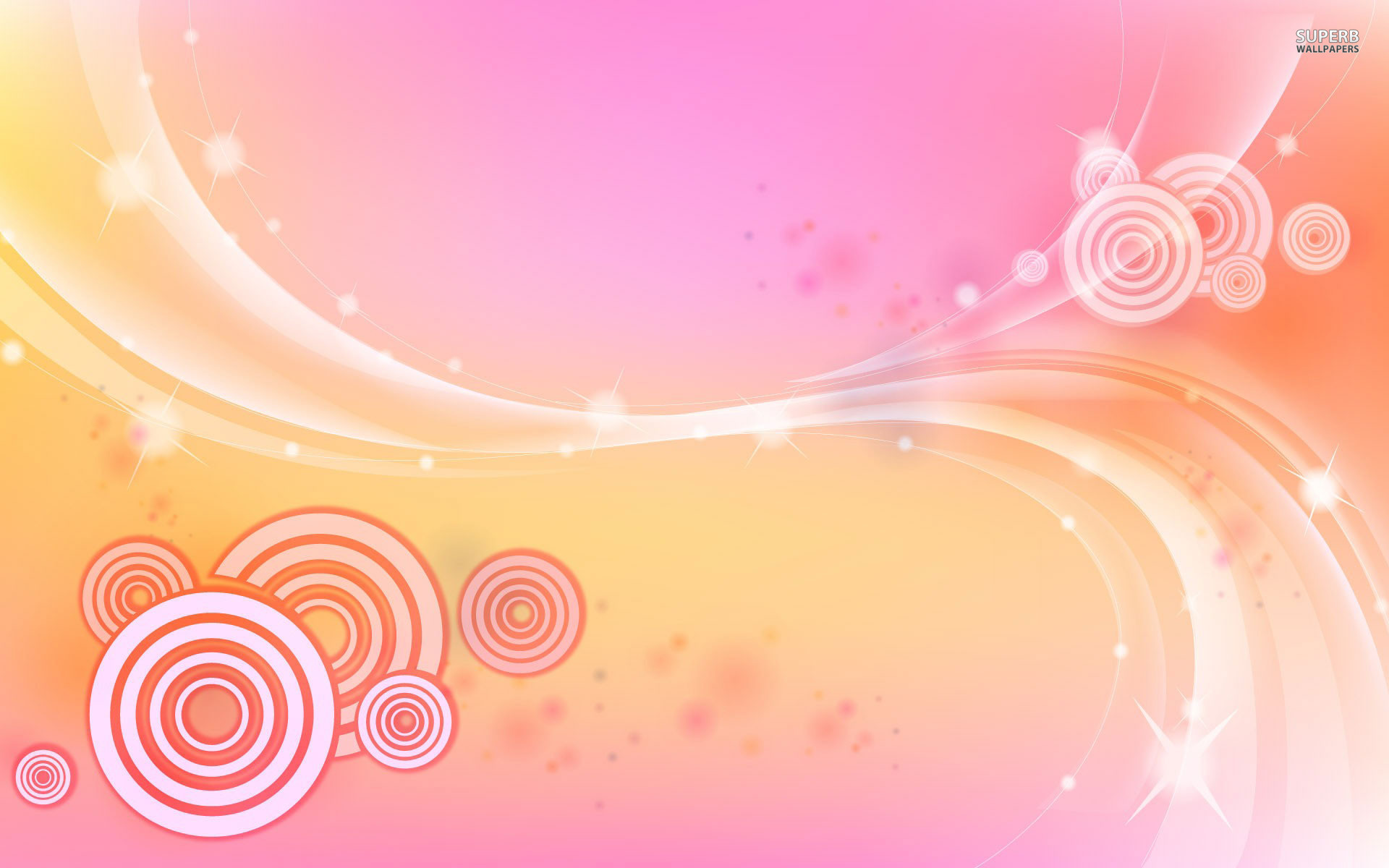 1920x1200 Light Pink Butterfly Wallpaper Circles and waves wallpaper