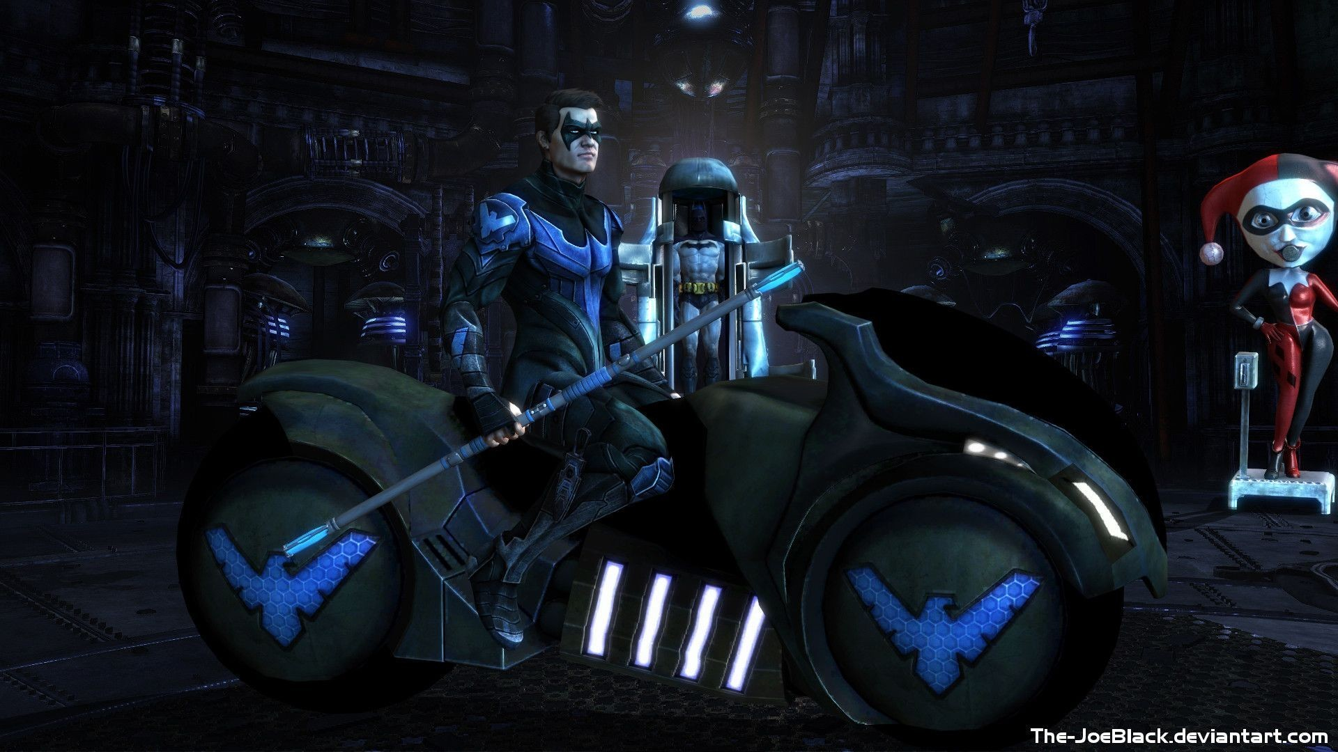 1920x1080 Blue Nightwing Wallpapers High Quality Resolution