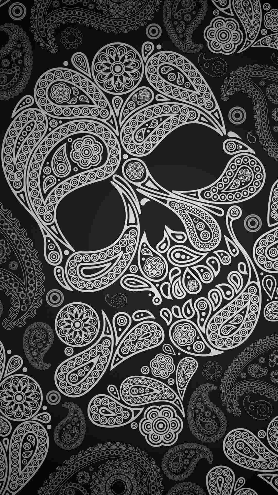 Sugar Skull Wallpaper for iPhone