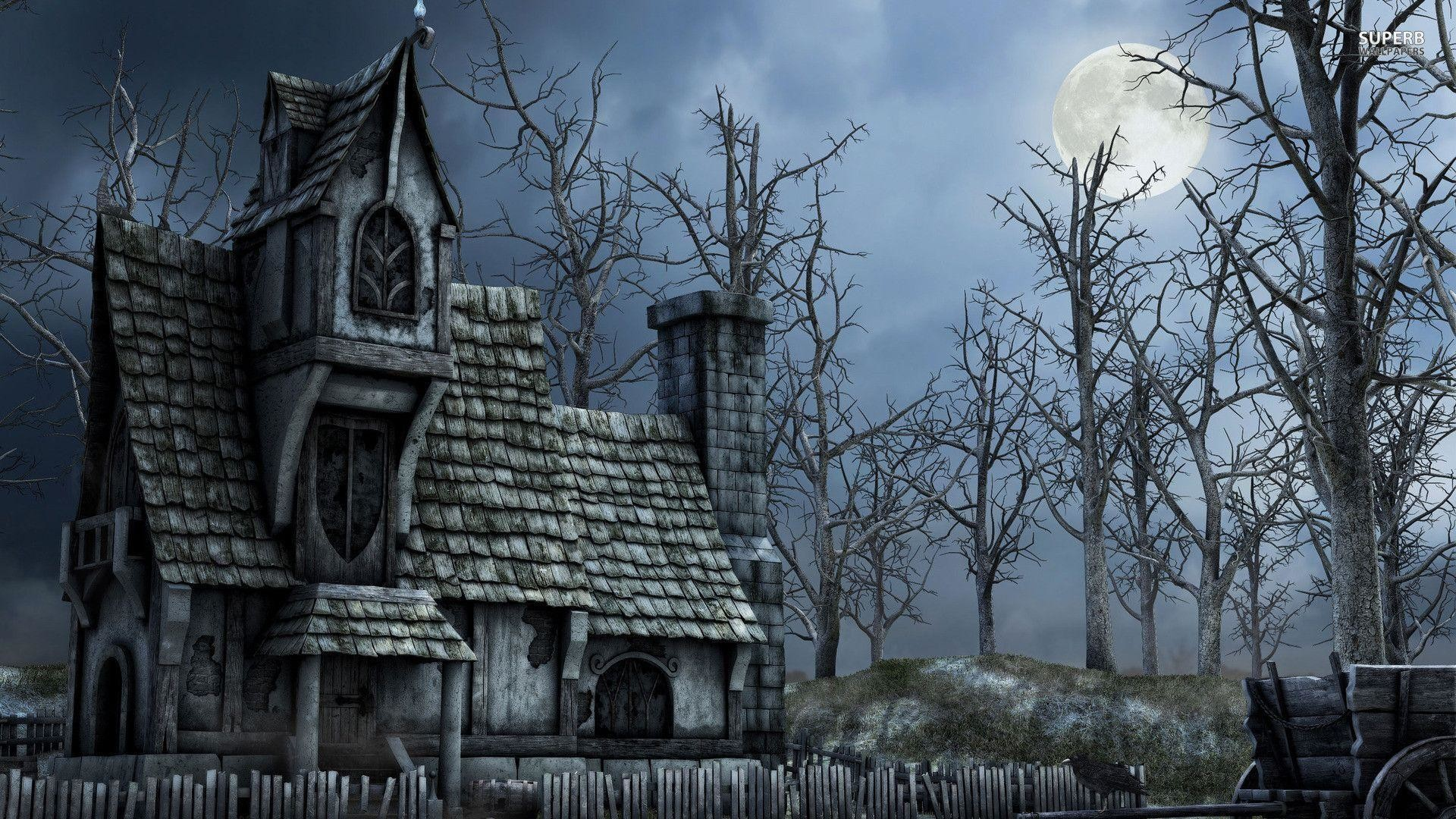 1920x1080 Haunted house wallpaper - Fantasy wallpapers - #