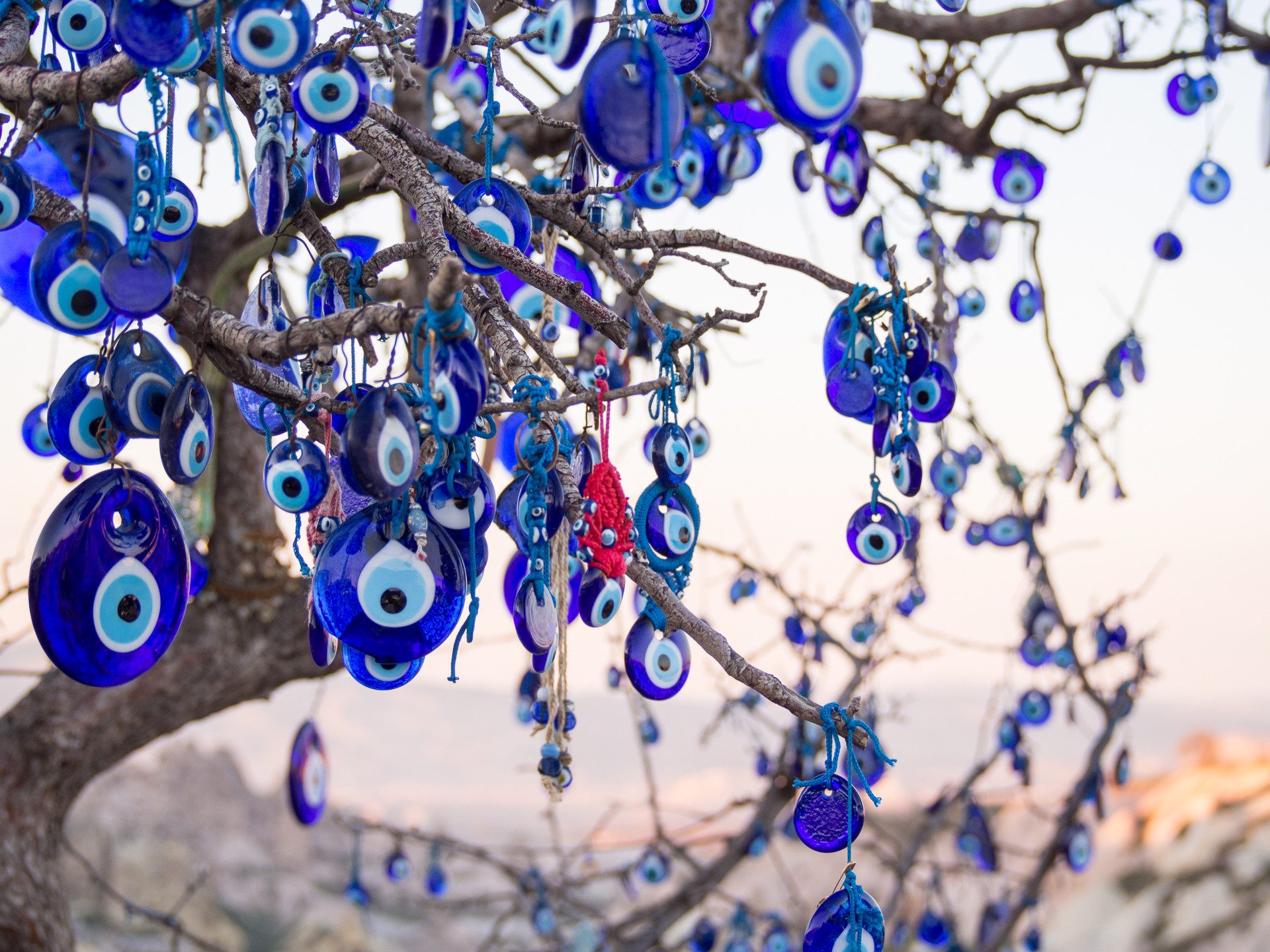 1920x1440 Tree with nazar (eye-shaped amulet believed to protect against the evil eye)
