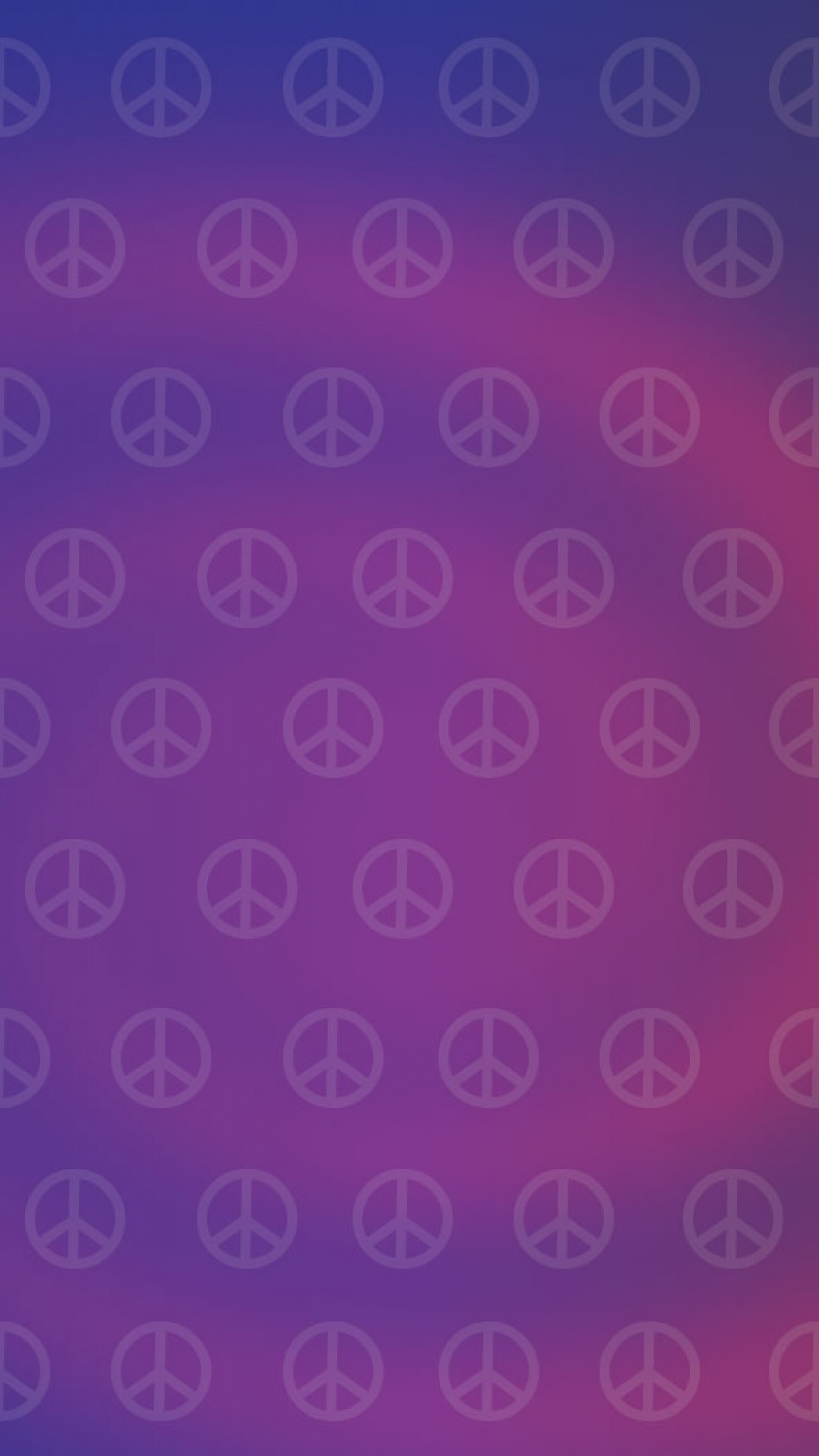 1440x2560  Wallpaper hippies, picture, sign, peace, purple
