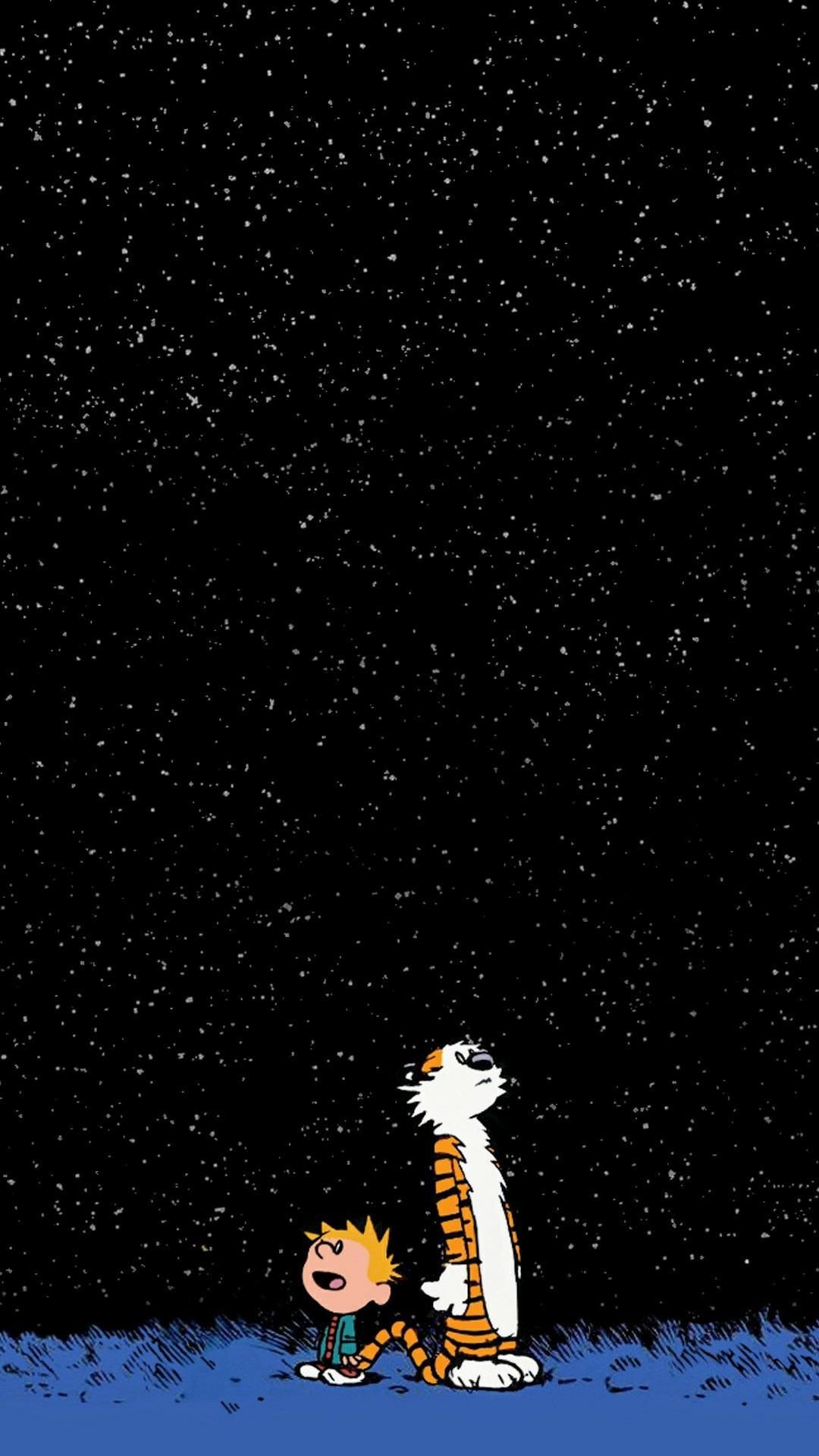 1080x1920 [Request] Can anyone turn this Calvin and hobbes wallpaper into an amoled? [