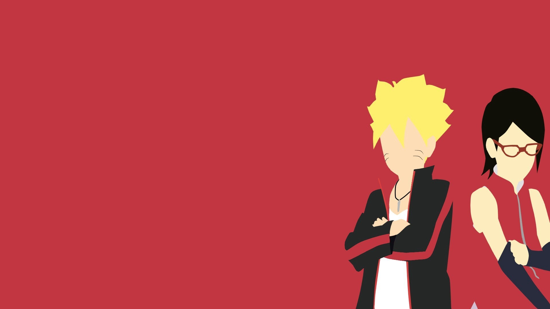 1920x1080 Anime - Boruto: Naruto the Movie Naruto Boruto Uzumaki Sarada Uchiha  Bakgrund