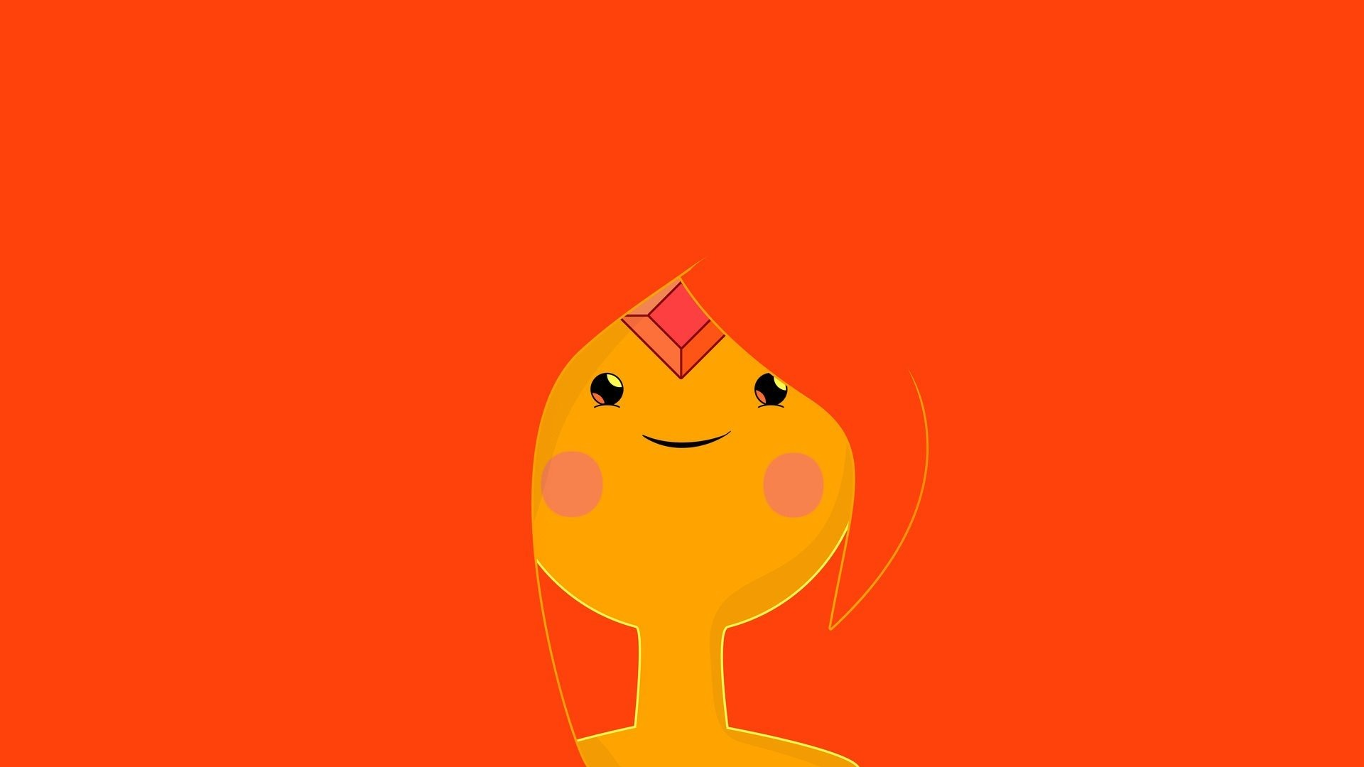 1920x1080 Adventure Time, Flame Princess, Minimalism
