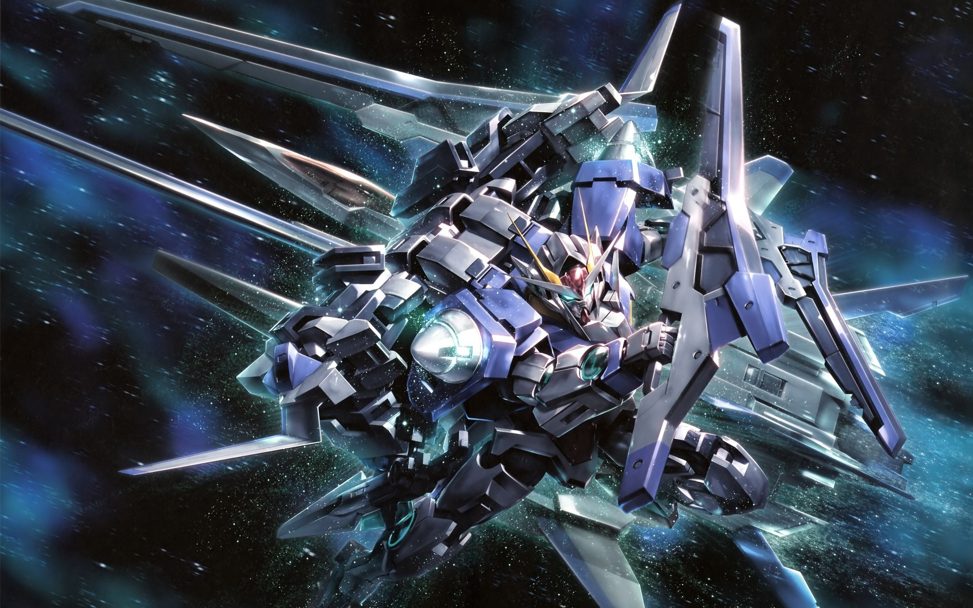 1920x1200 Mobile Suit Gundam 00, Anime, Space, Gundam, Mech, Robot Wallpapers HD /  Desktop and Mobile Backgrounds