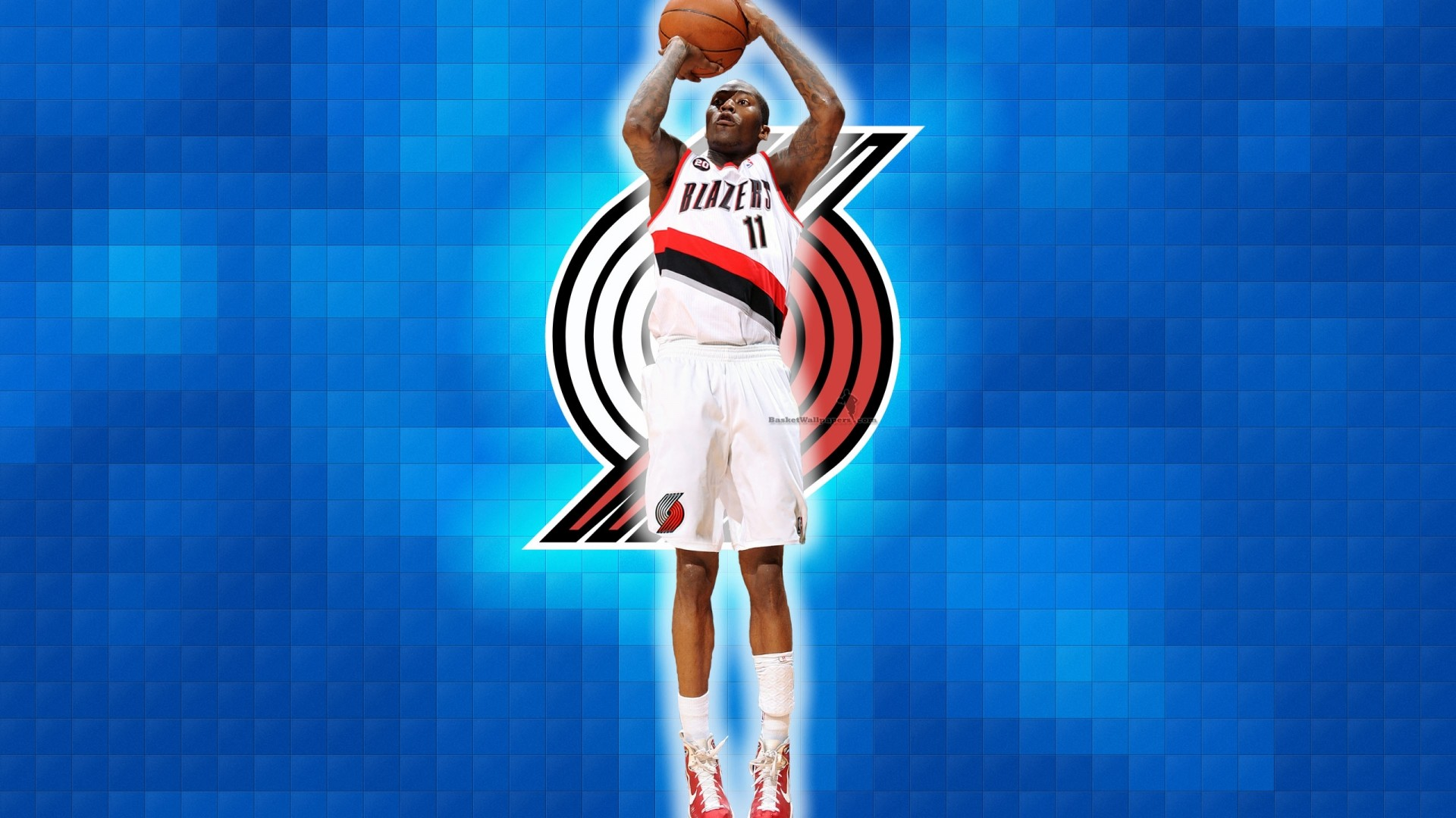 1920x1080 Jamal Crawford Blazers basketball wallpaper