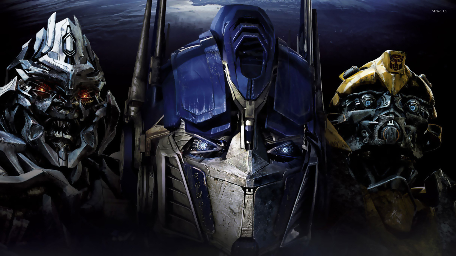1920x1080 Megatron, Optimus Prime and Bumblebee - Transformers wallpaper