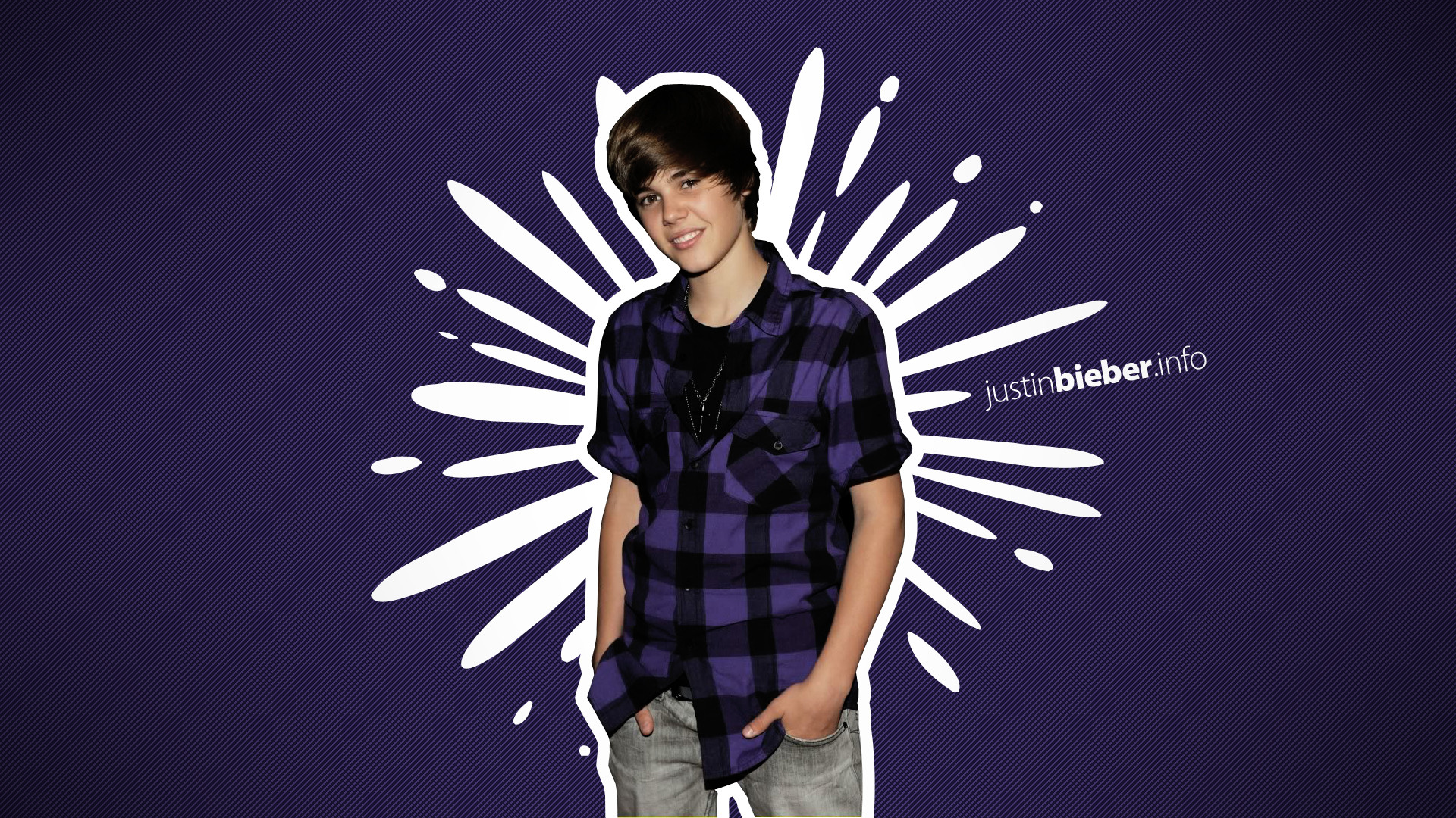 1920x1080 Justin Bieber Purple Wallpaper