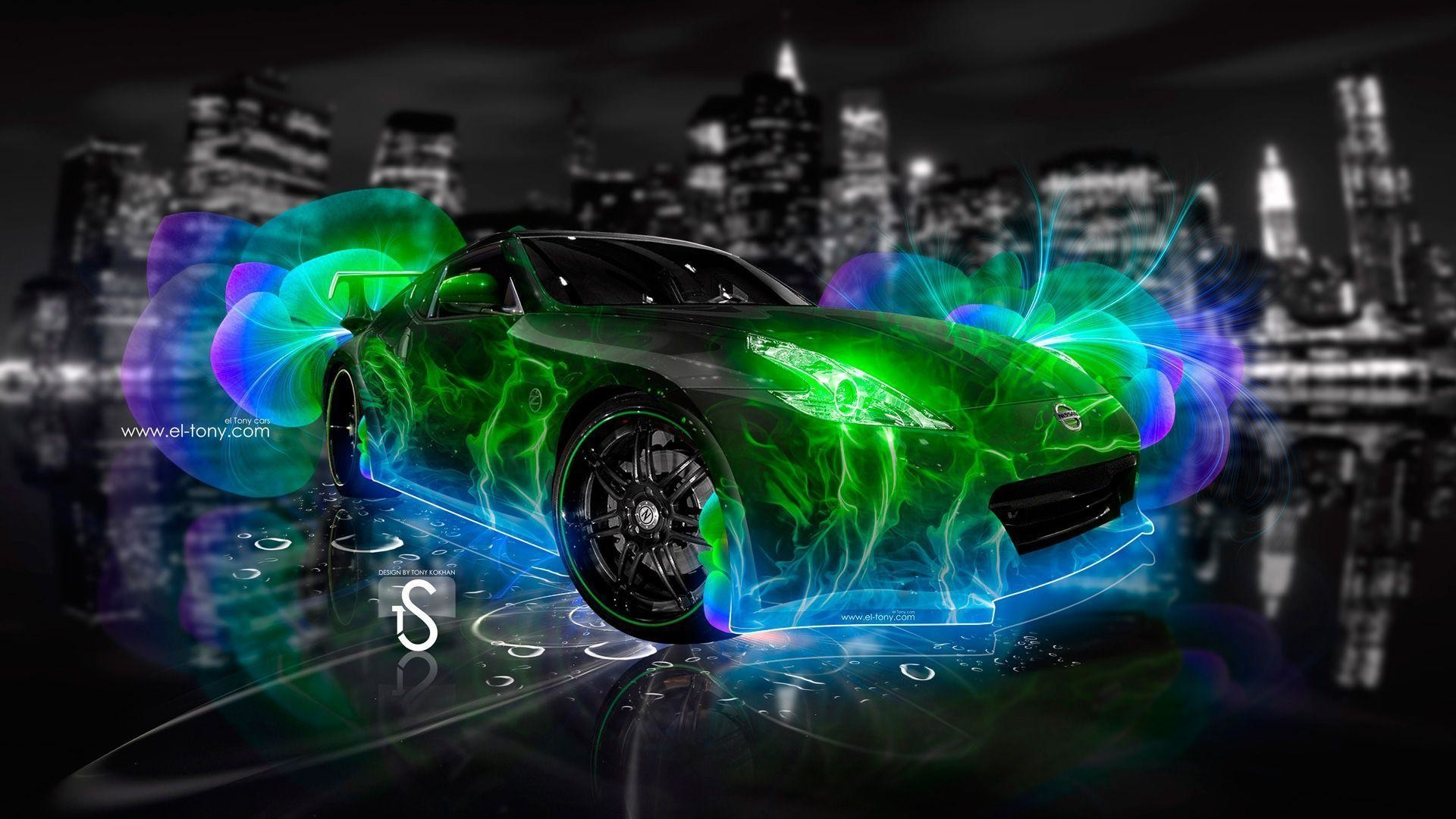 1920x1080 Wallpapers For > Green Neon Abstract Wallpaper