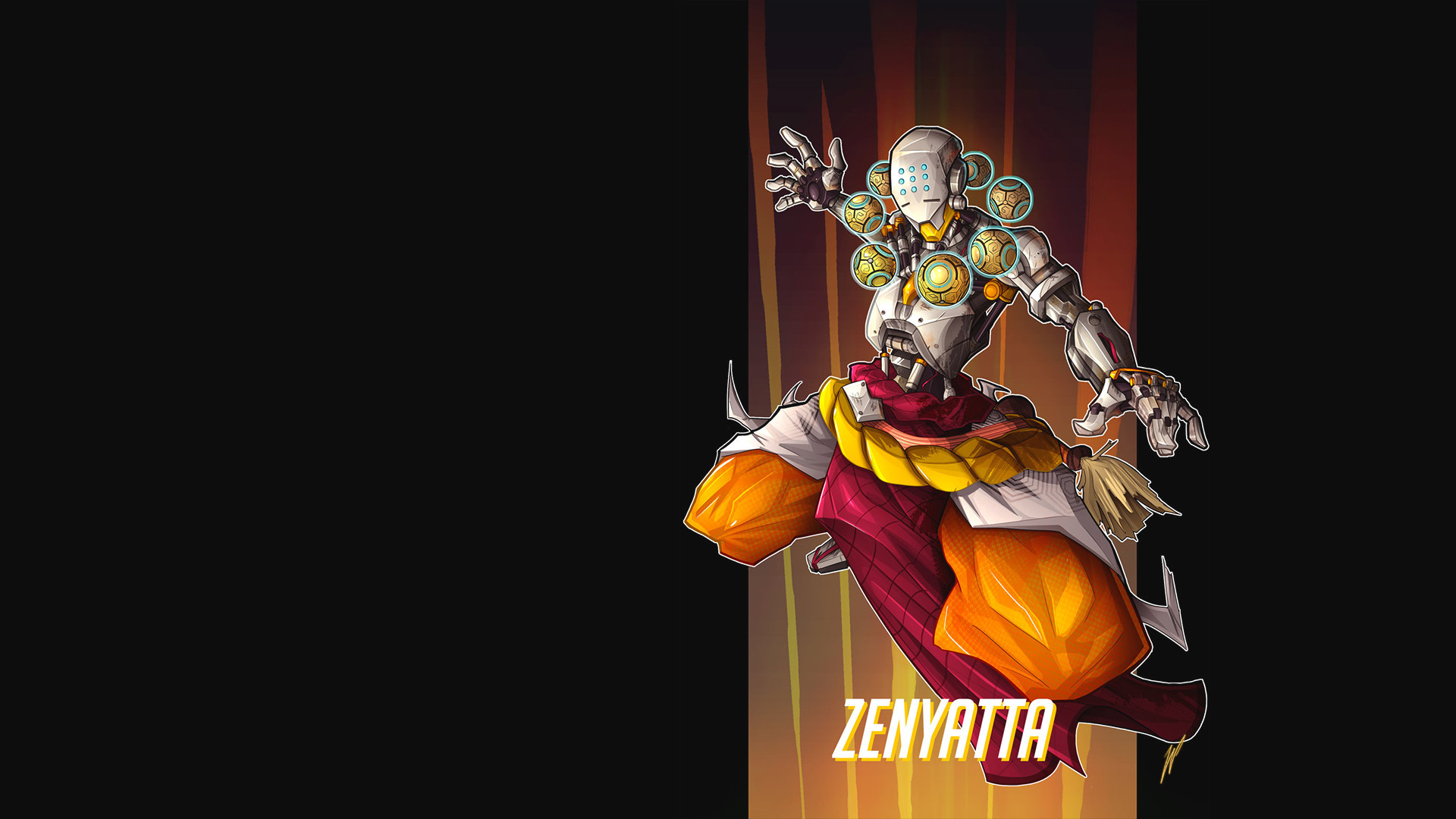 1920x1080 Zenyatta wallpaper by Puekkers