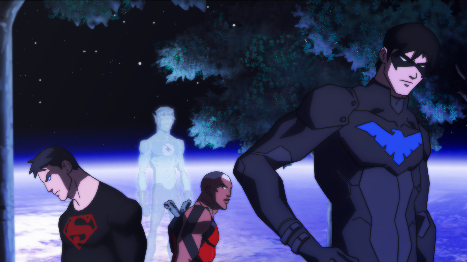 1920x1080 Cartoon - Young Justice Nightwing Superboy Aqualad Wallpaper