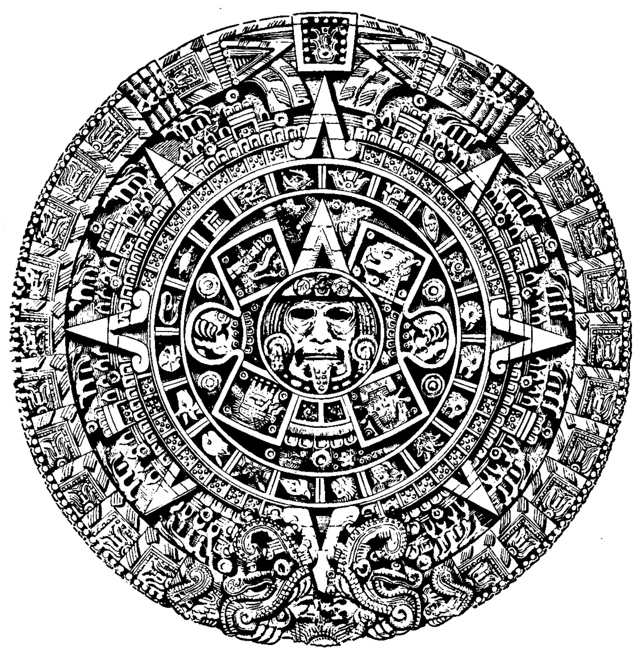 Aztec Calendar Drawing : Aztec calendar wallpaper images