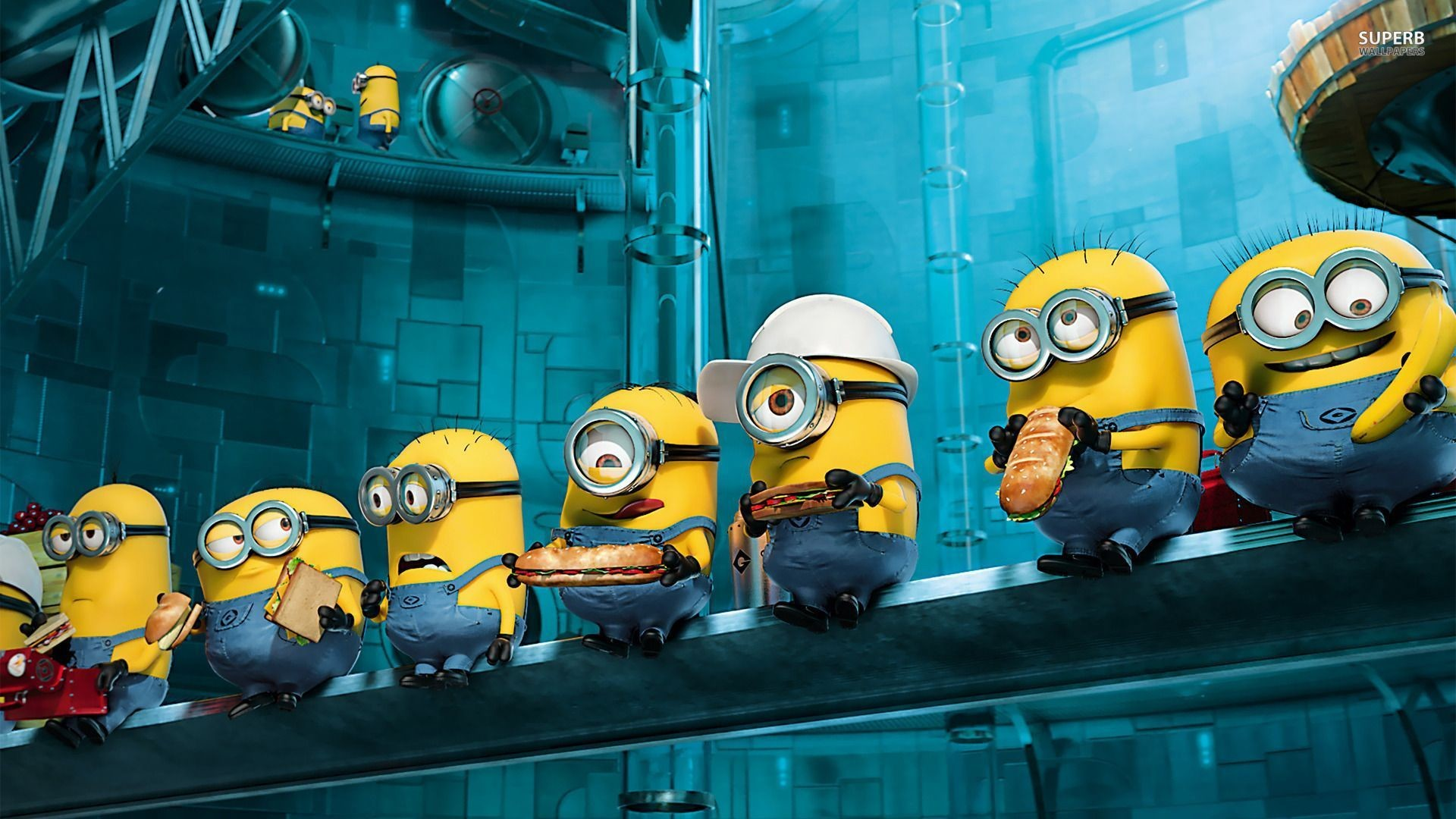 1920x1080 Despicable Me 2 Minions Desktop Wallpaper Hd  Lunch Break .