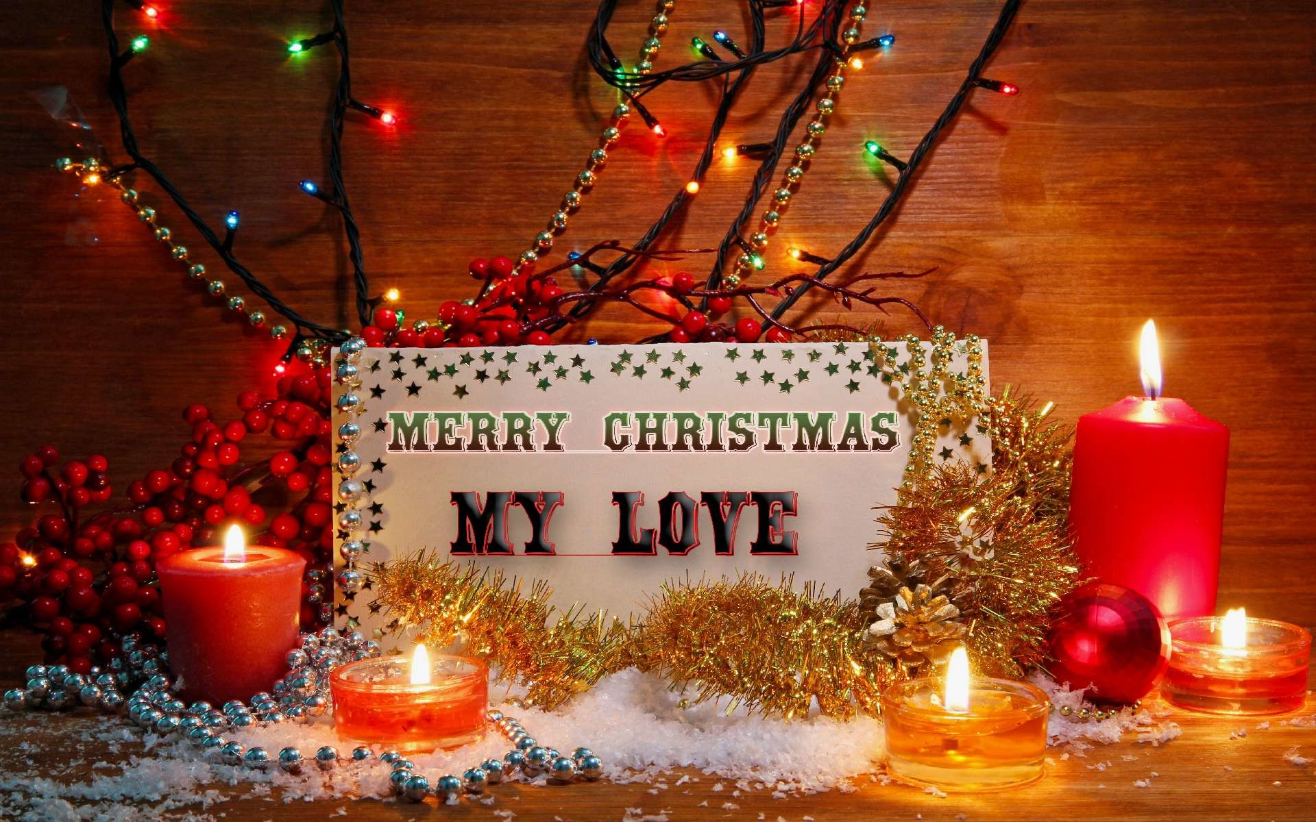 1920x1200 Merry Christmas My Love ,Pictures,Images,Photos,Wallpapers