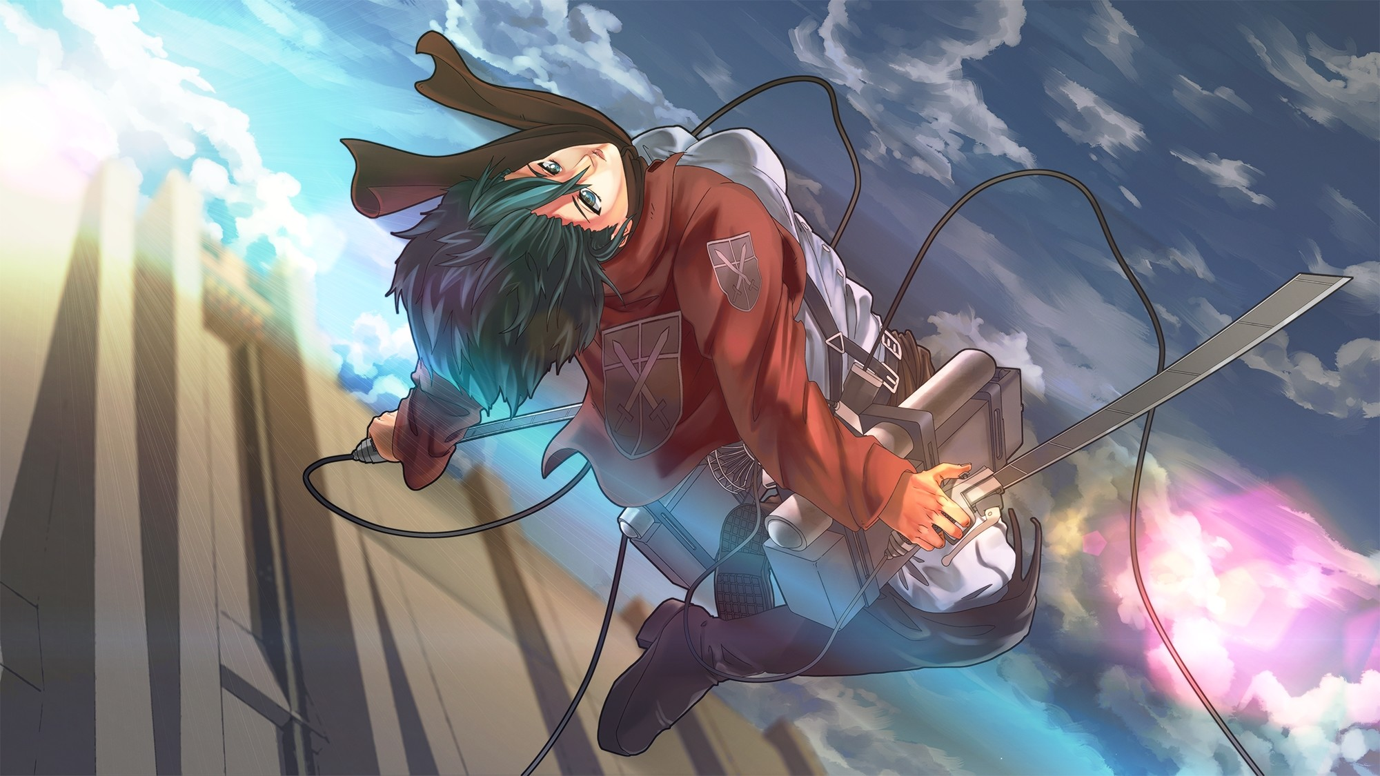 Attack on titan mikasa ackerman wallpapers 82 images - Eren and mikasa wallpaper ...