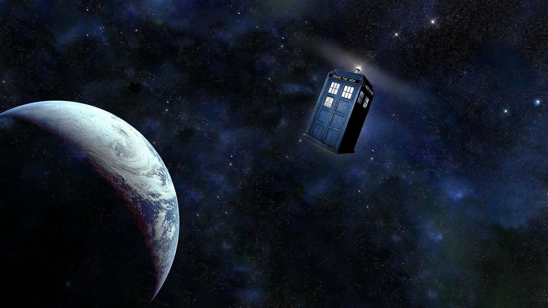 1920x1080  Tardis In Space Wallpaper Hd Images & Pictures - Becuo