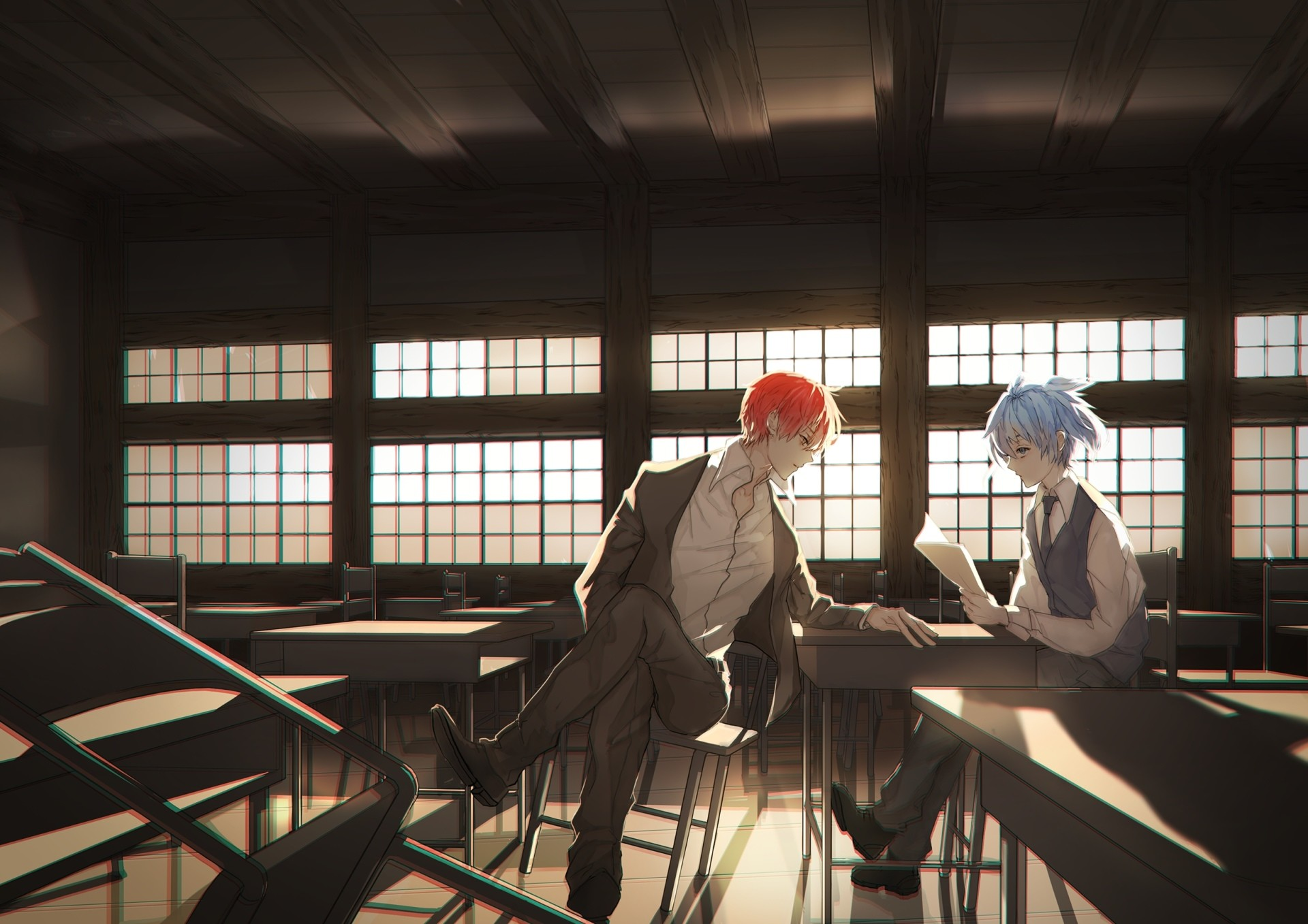 1920x1357 Anime Assassination Classroom Karma Akabane Nagisa Shiota Wallpaper