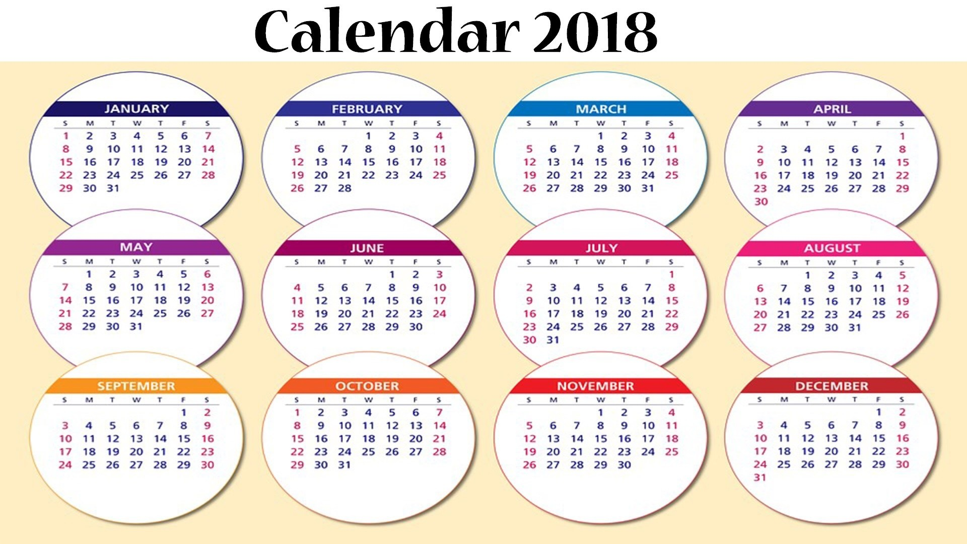 calendar 2018 download