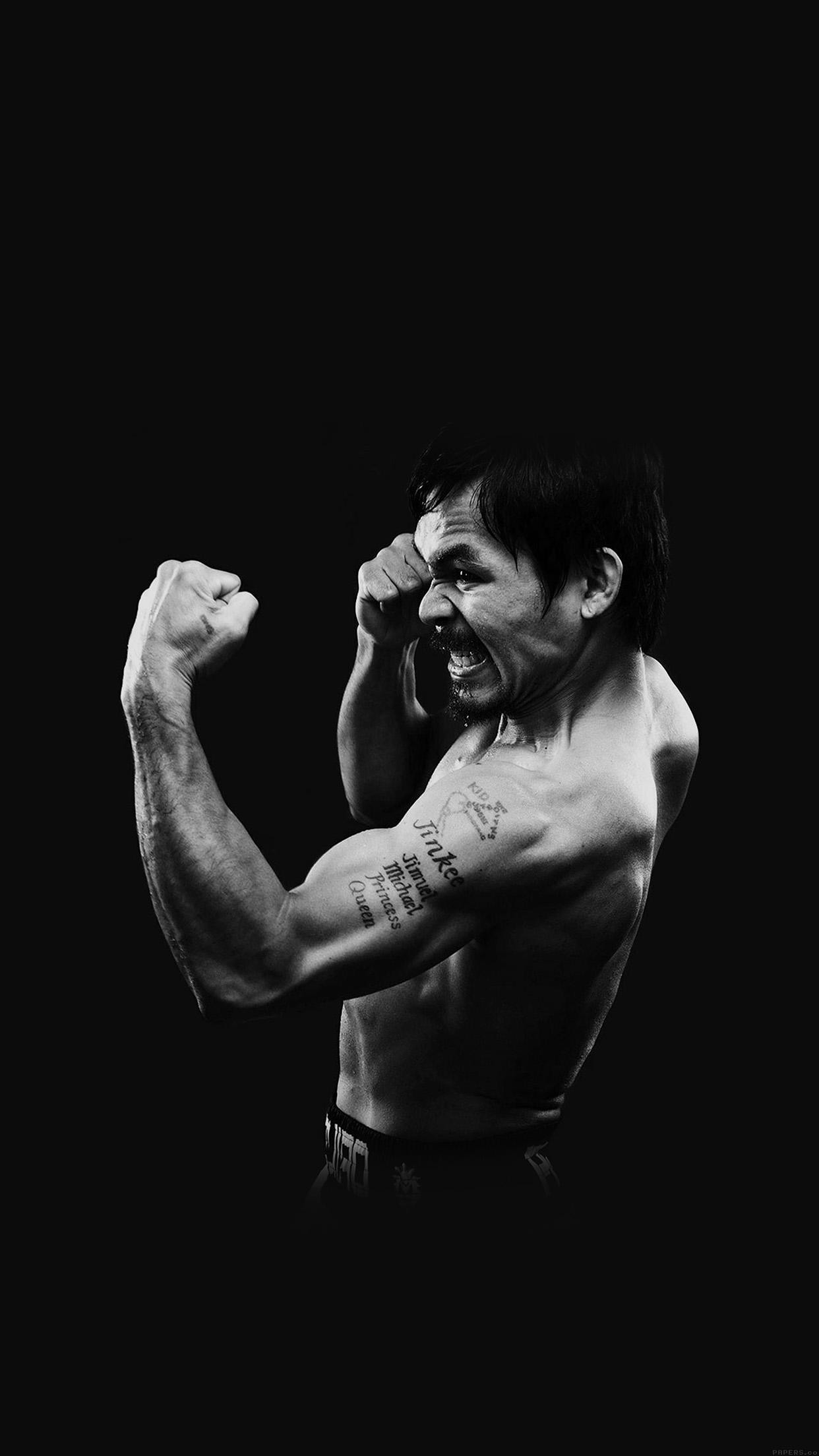 1242x2208 Manny Pacquiao Dark Boxing Legend