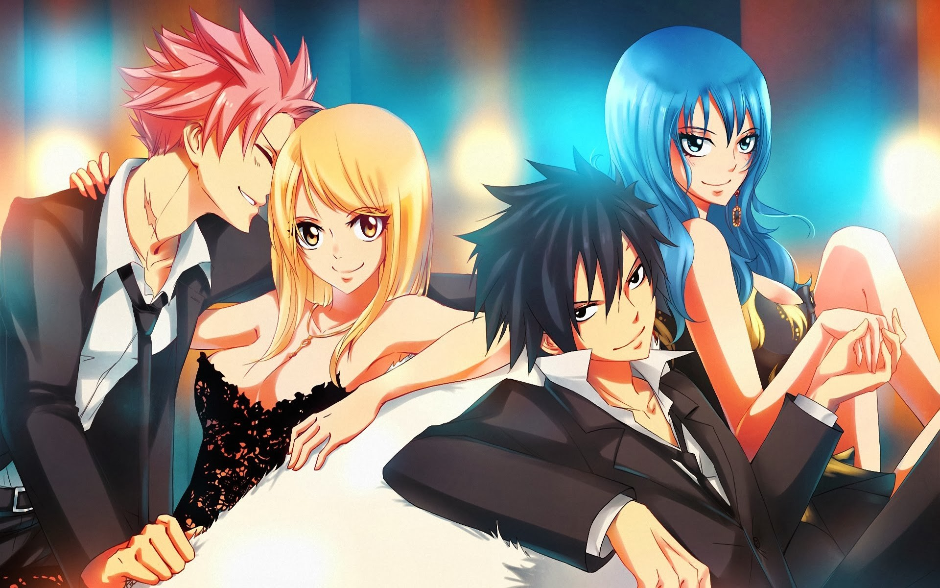 1920x1200 The Couples of Fairy Tail images ~ NaLu & Gruvia ~ HD wallpaper and  background photos