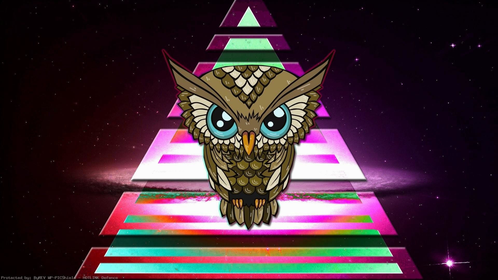 1920x1080 General--owl-triangle-triangle-colorful-space-Illuminati-