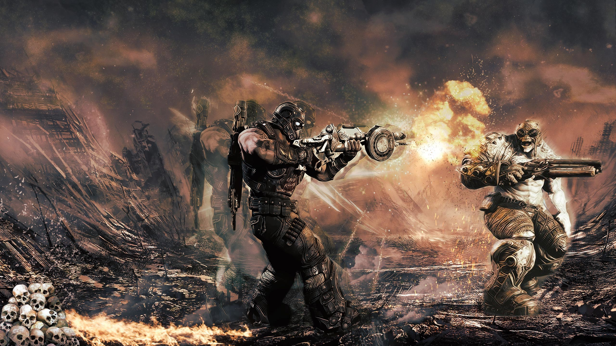 2560x1440 Gears of War 3 Wallpaper 20 - 2560 X 1440