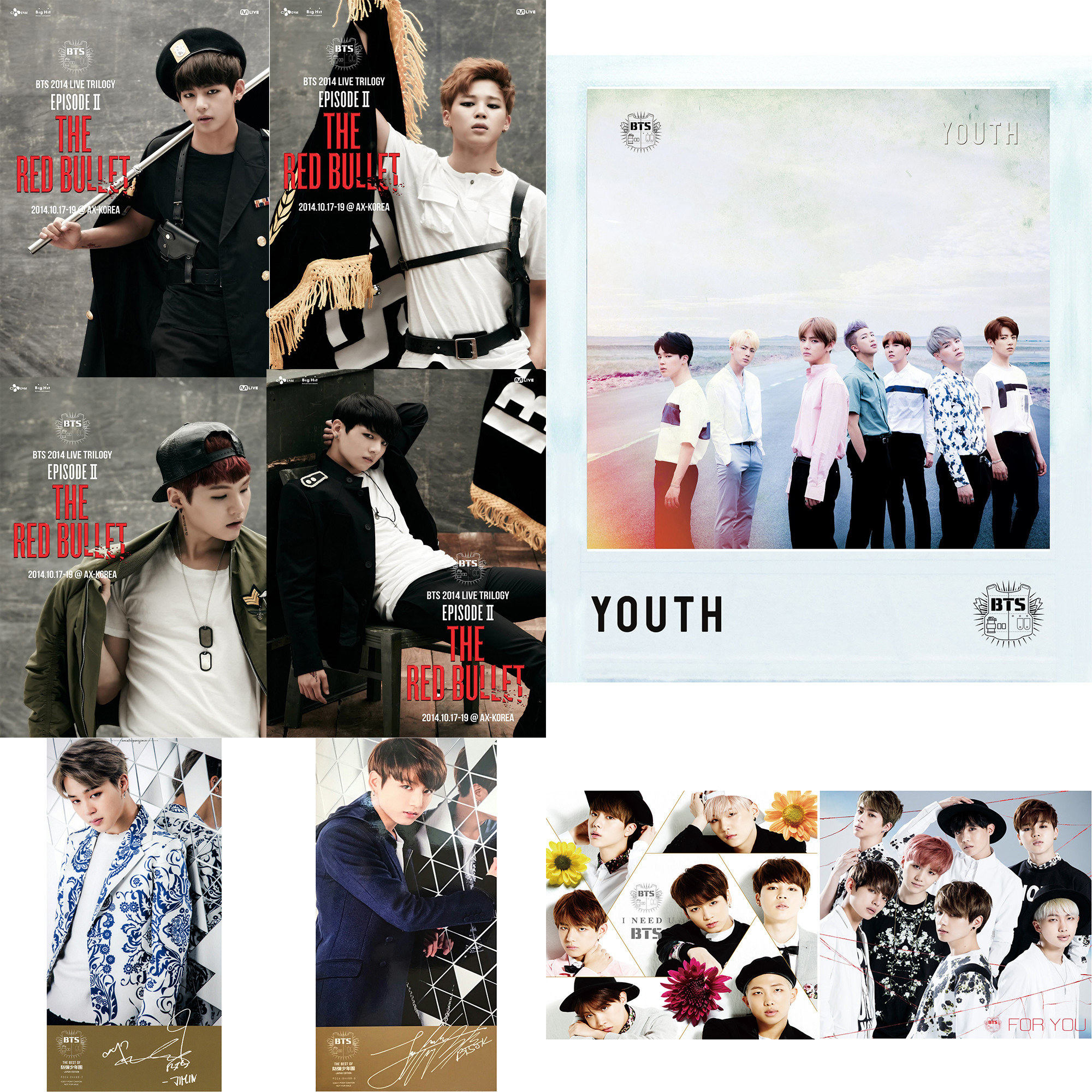 2000x2000 BTS Character Posters Wall Stickers Home Decoration Modern Style White  Coated Paper MP6327(China)