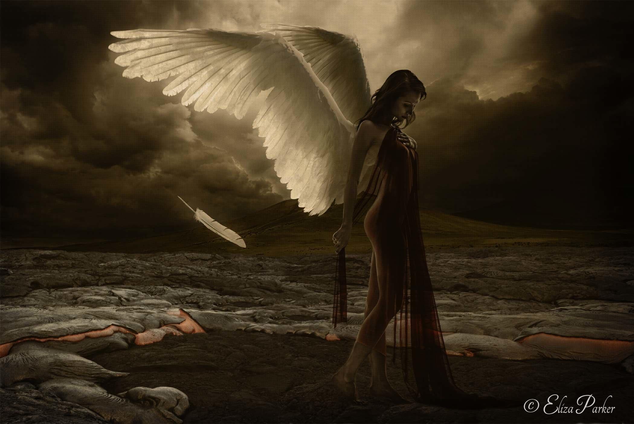 1920x1080 Angel Wallpapersafari Alone Broken Hearted Hd Free Wallpapers