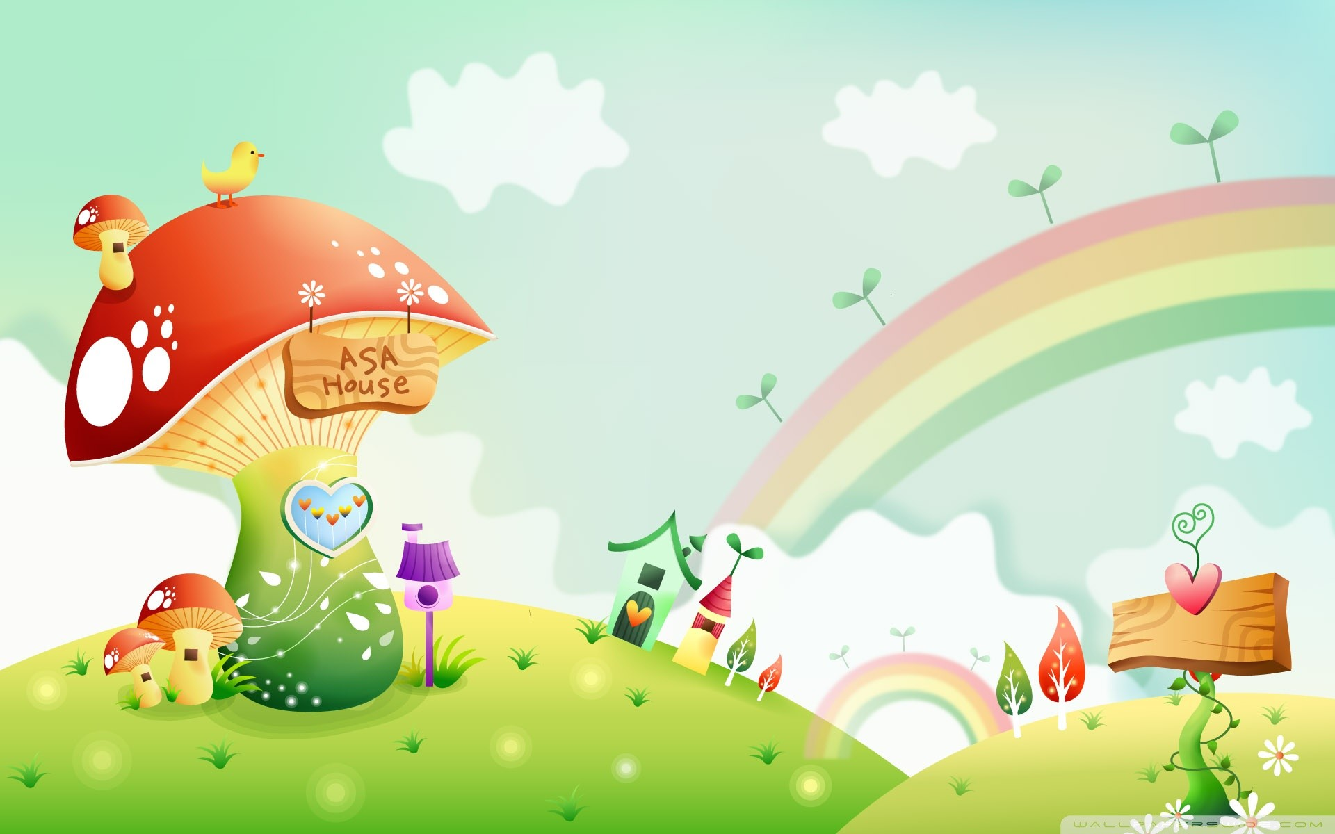 Cartoon spring wallpaper 57 images for Wallpaper happy home designer